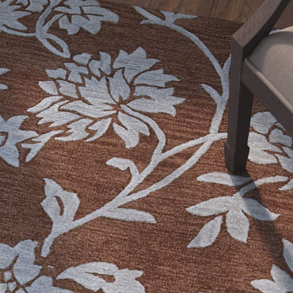 Peterson Hand-Woven Chocolate Area Rug