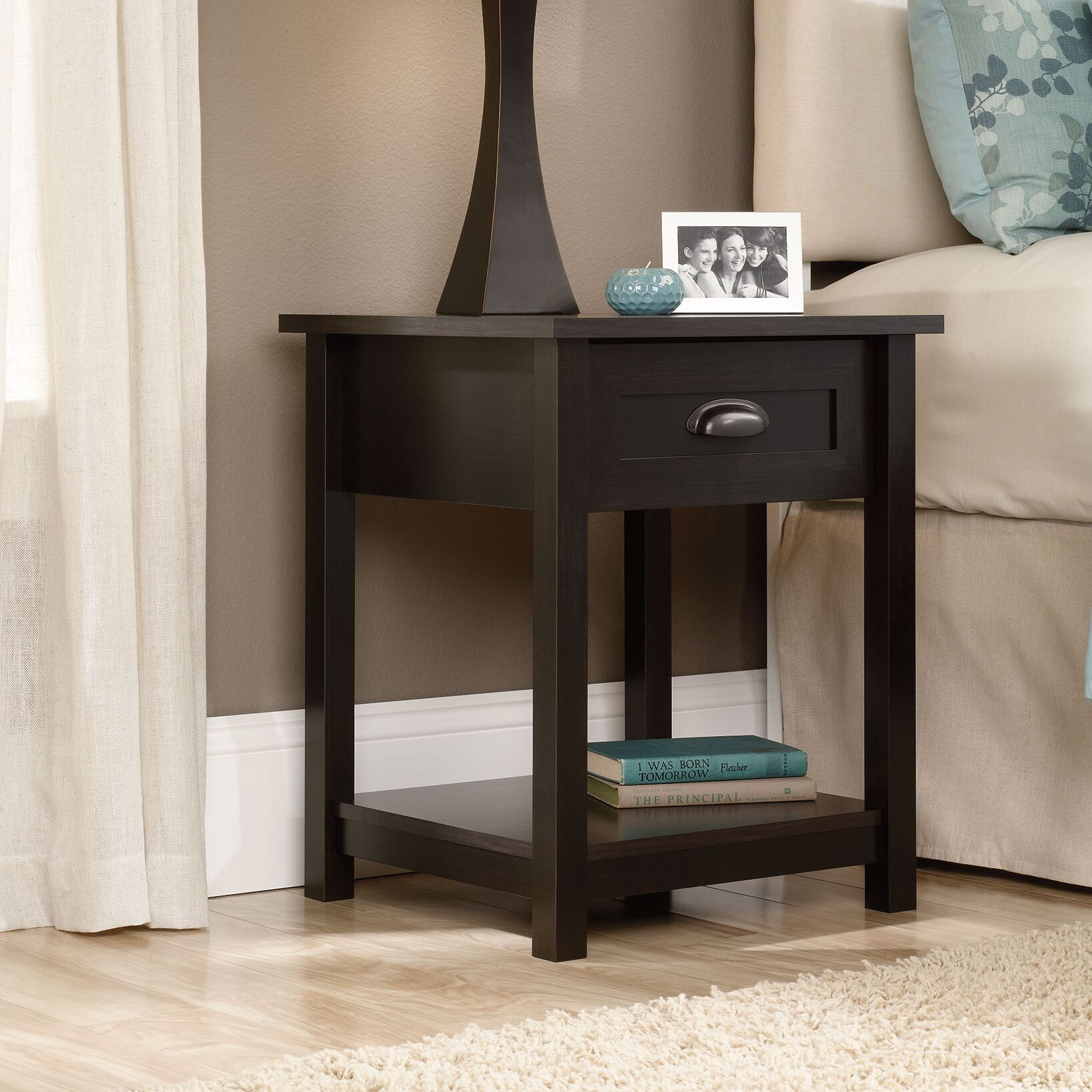 Rossford 1 Drawer Nightstand Color: Estate Black