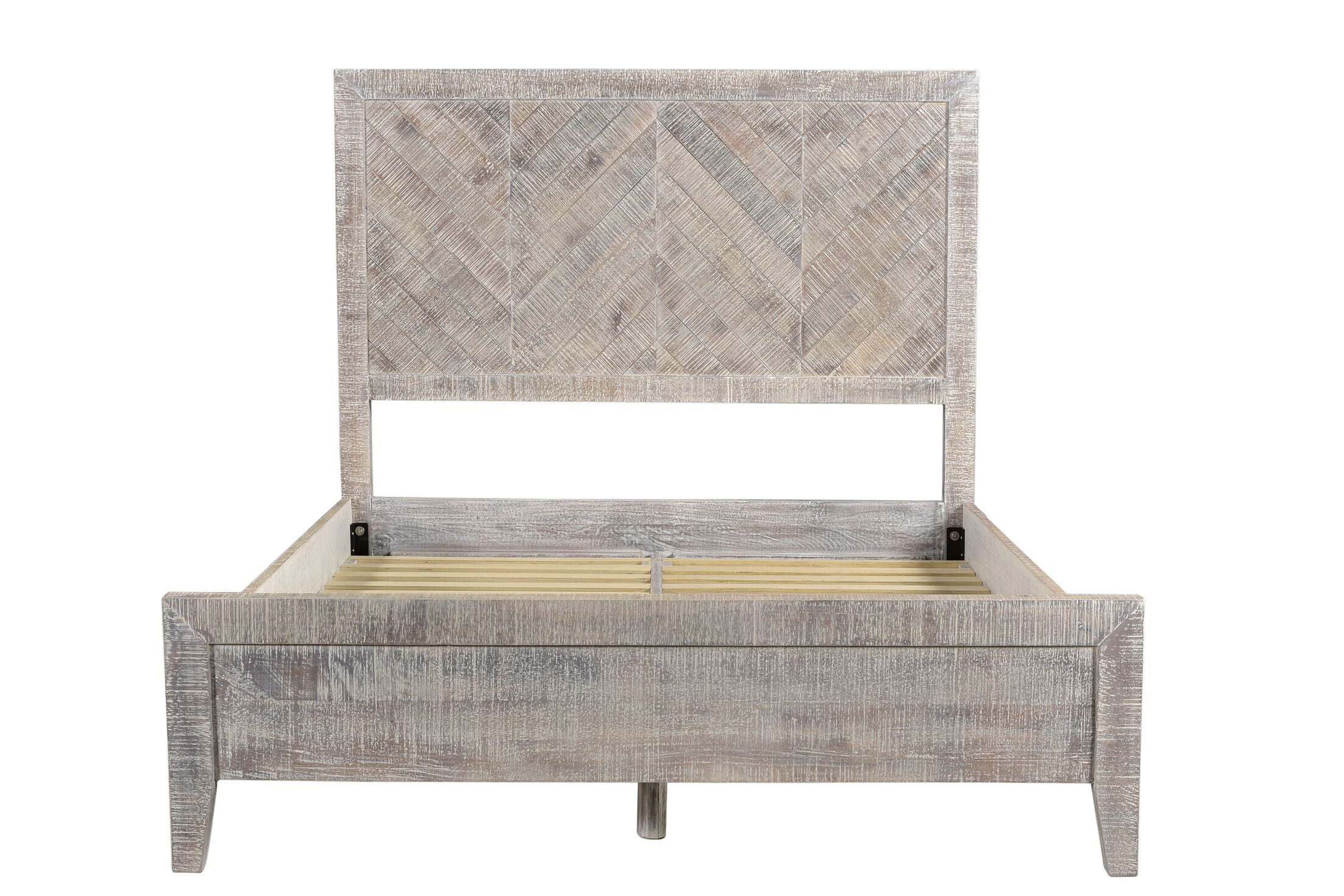 Antonucci Platform Bed Size: King, Color: White Wash