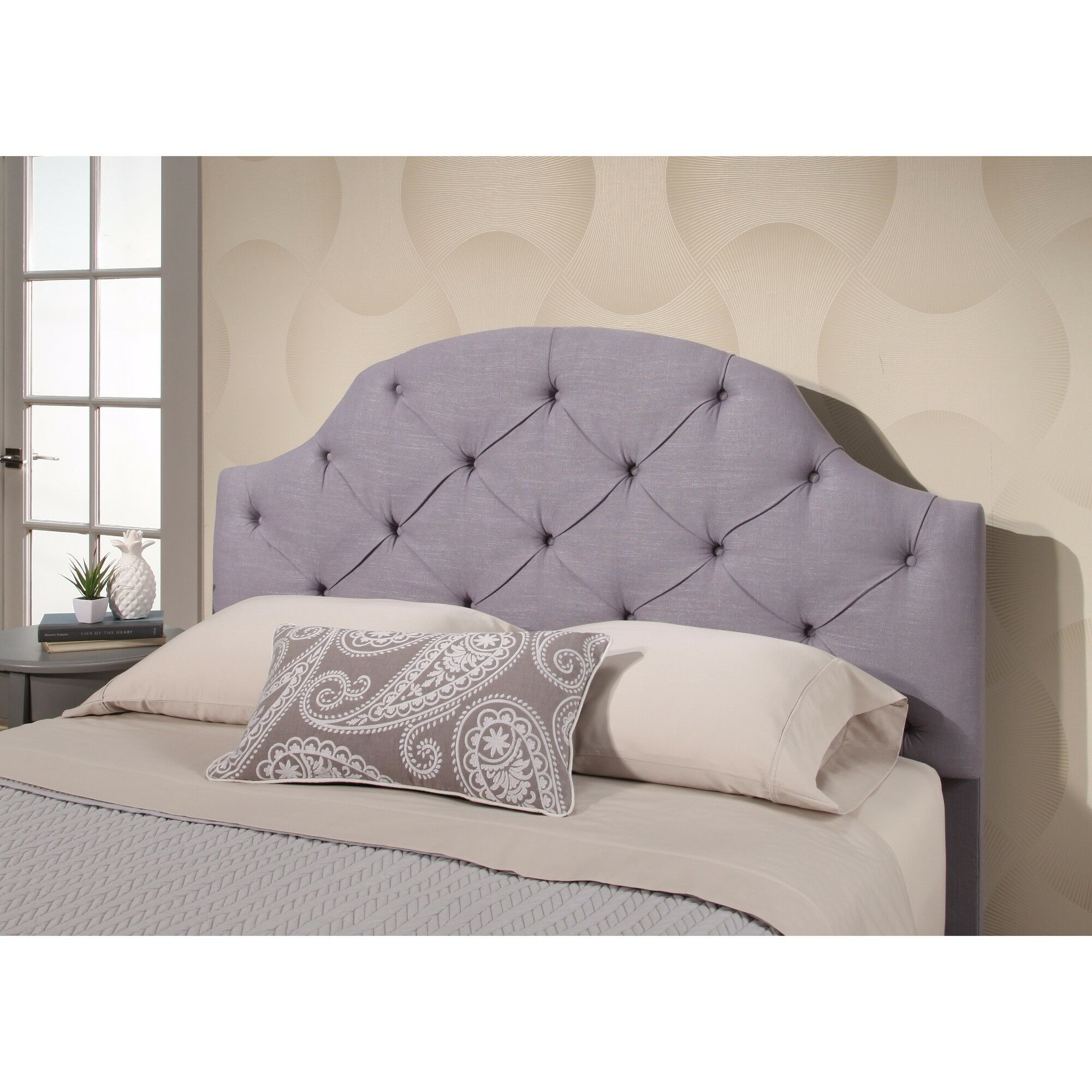 Ana Tufted Panel Headboard Upholstery: Steel Blue