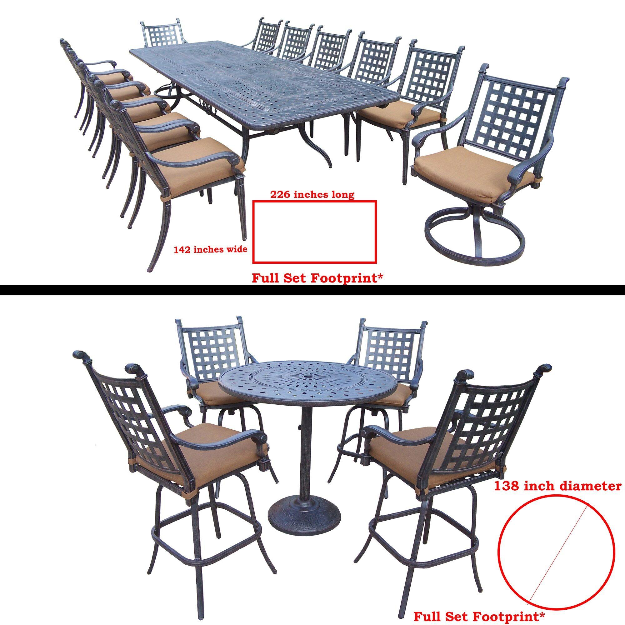 Arness 18 Piece Bar Height Dining Set