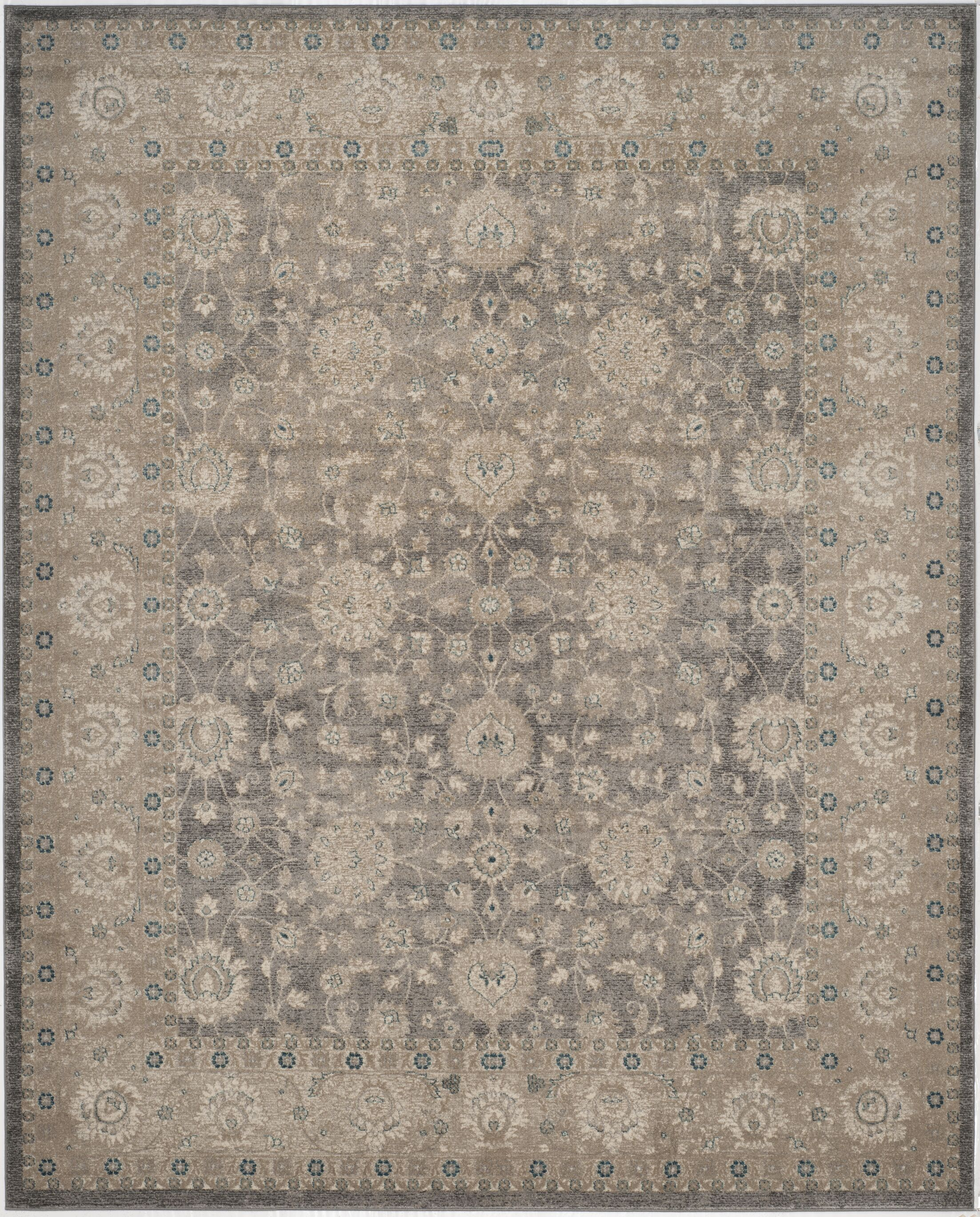 Sofia Power Loom Synthetic Beige/Gray Area Rug Rug Size: Rectangle 12' x 18'