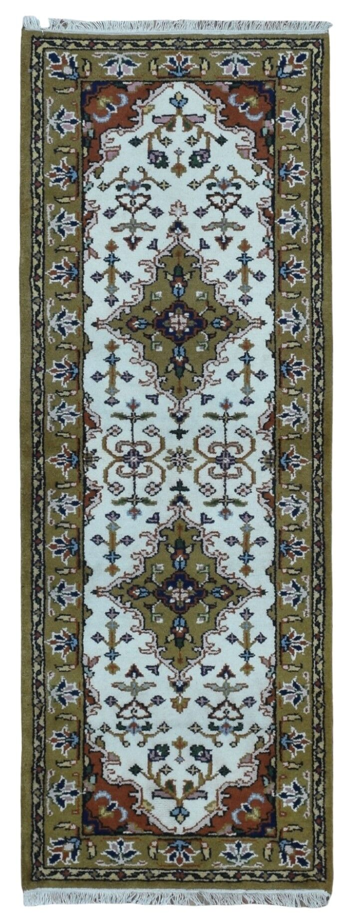 One-of-a-Kind Aca Hand-Knotted Wool Beige Area Rug