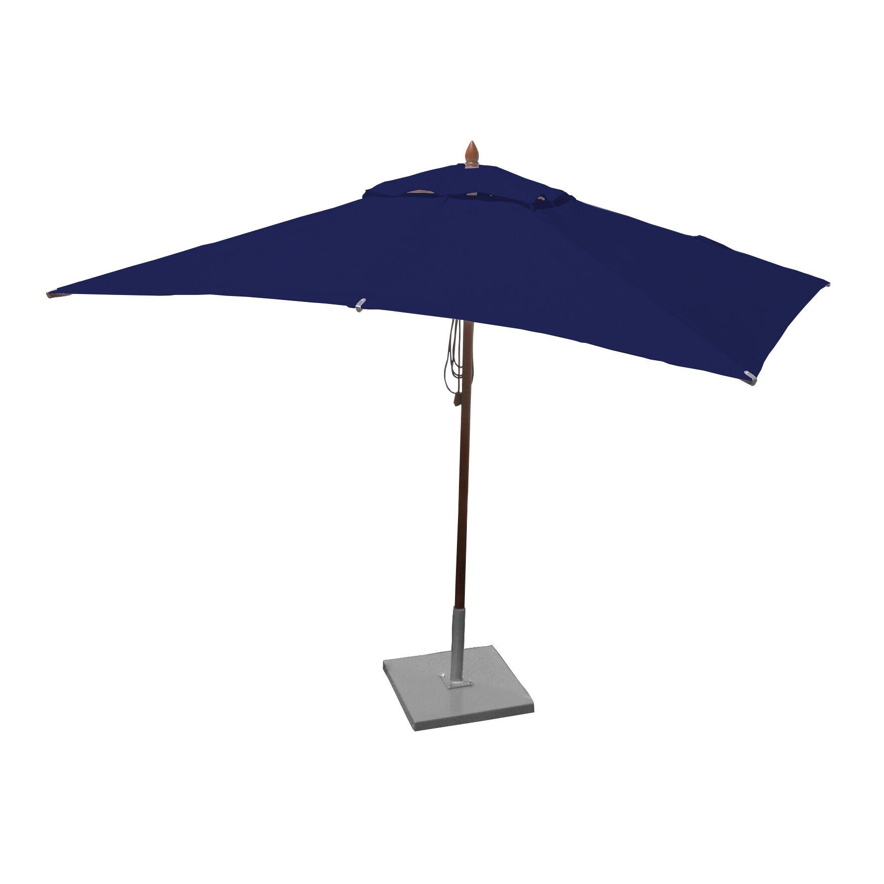 Sharon 6.5' X 10' Rectangular Market Umbrella Fabric: Ocean Blue