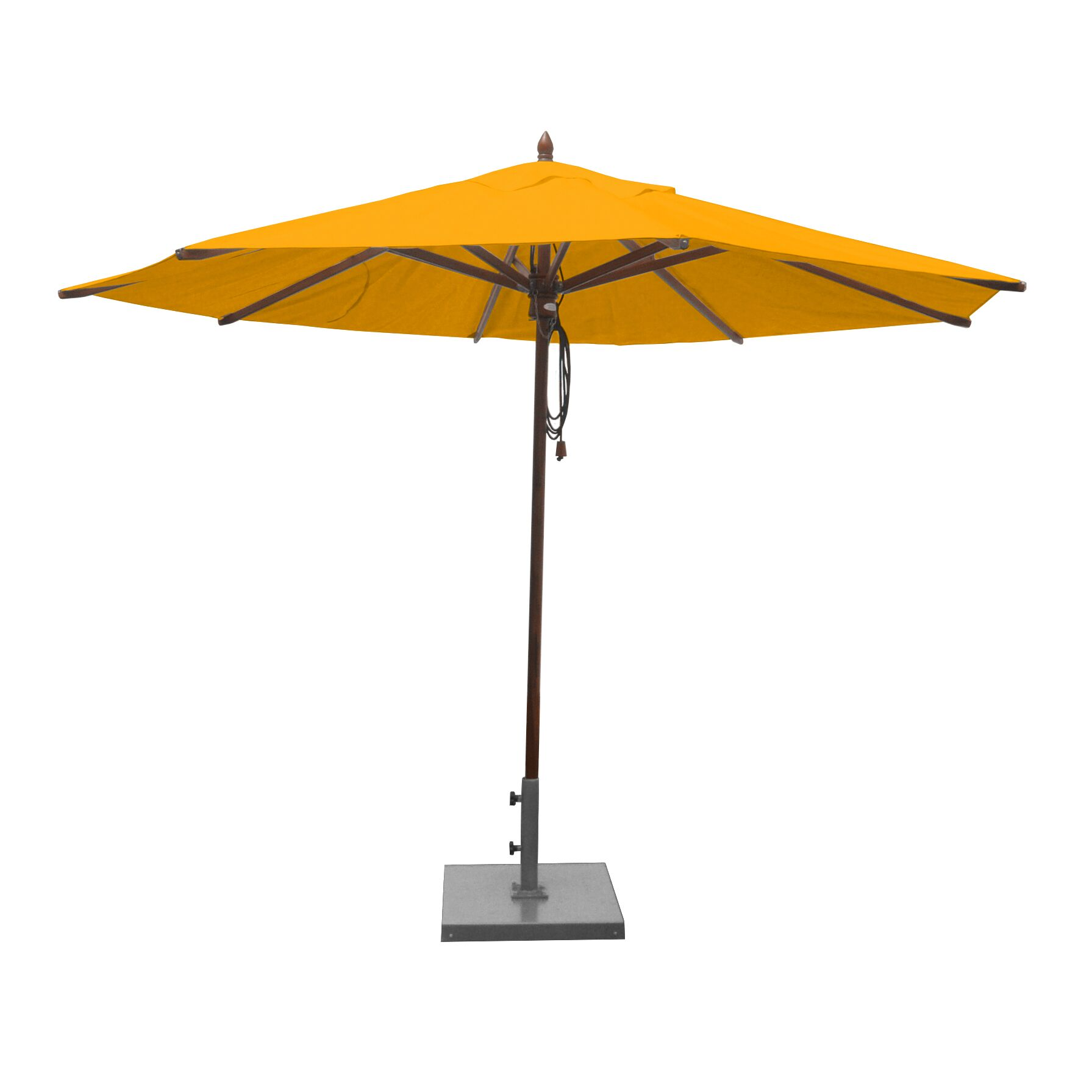 11' Market Umbrella Fabric: Sunflower Yellow