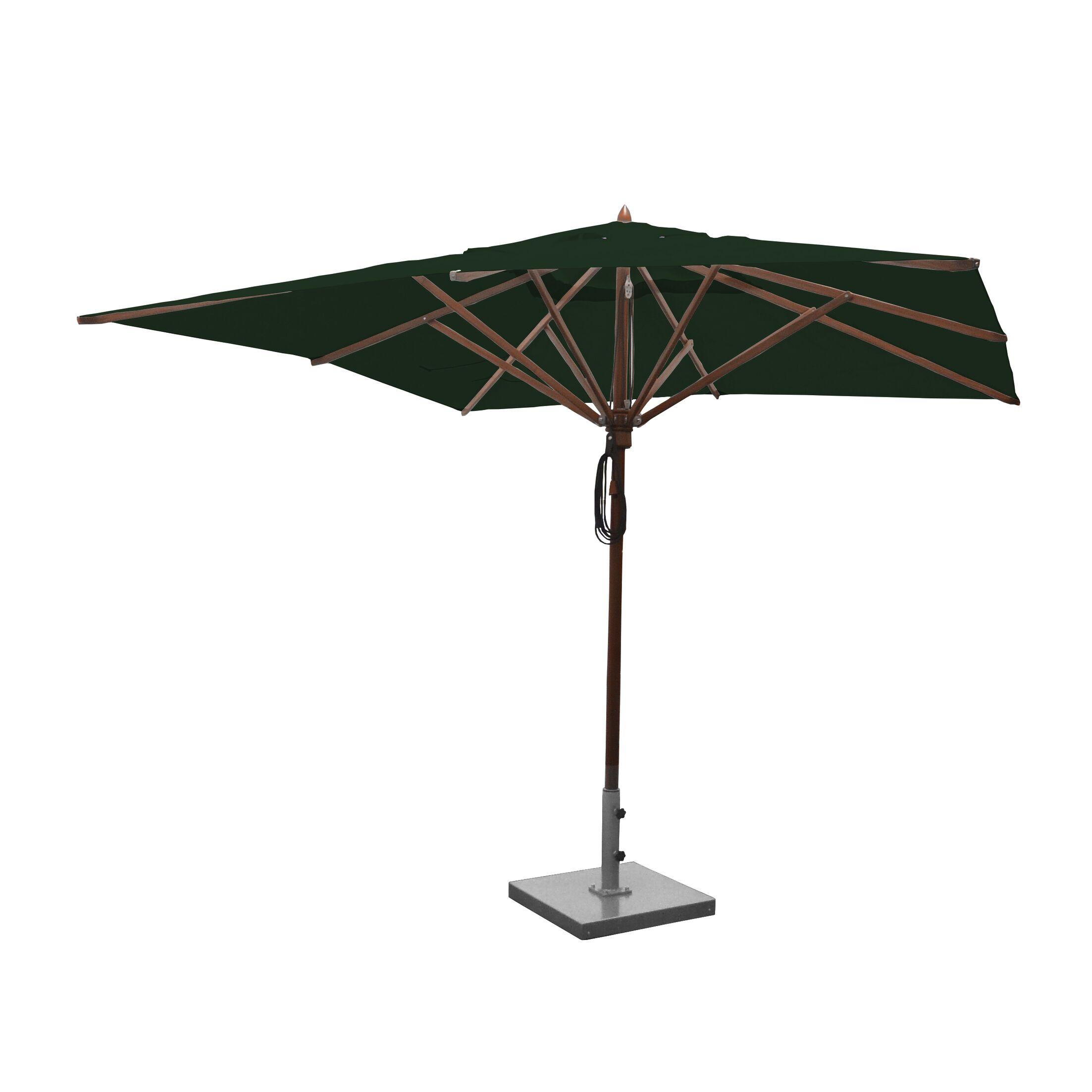 10' Square Market Umbrella Fabric: Forest Green