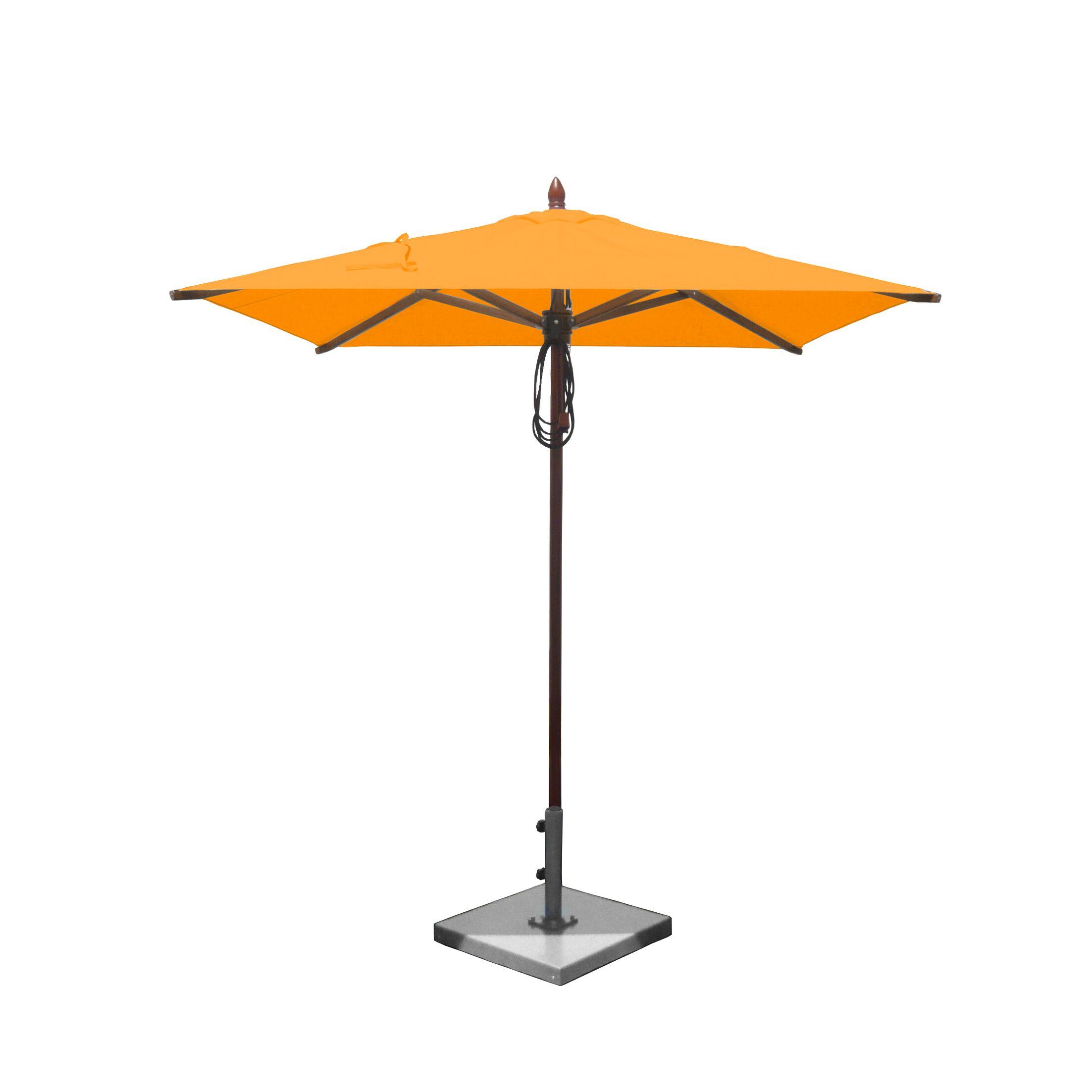 6.5' Square Market Umbrella Fabric: Sunflower Yellow