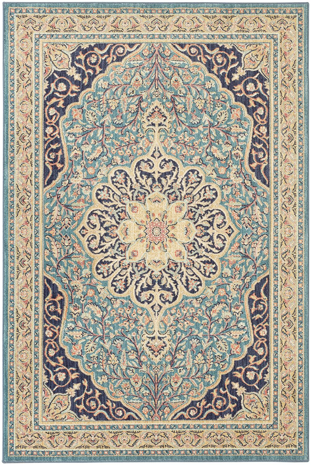 Lakemont Machine Woven Wool Blue Area Rug Rug Size: Rectangle 8' x 10'