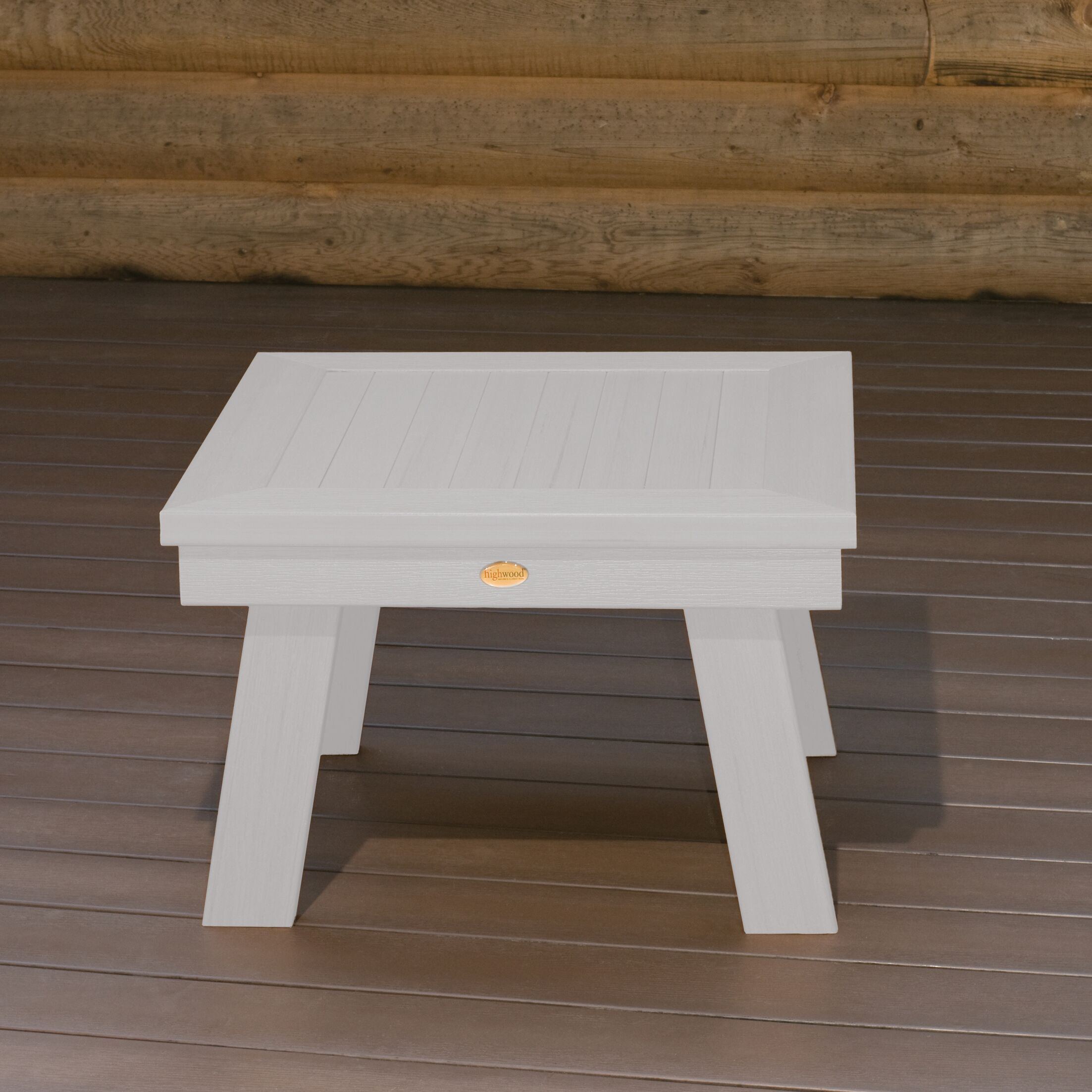 Emery Wood Dining Table Color: White