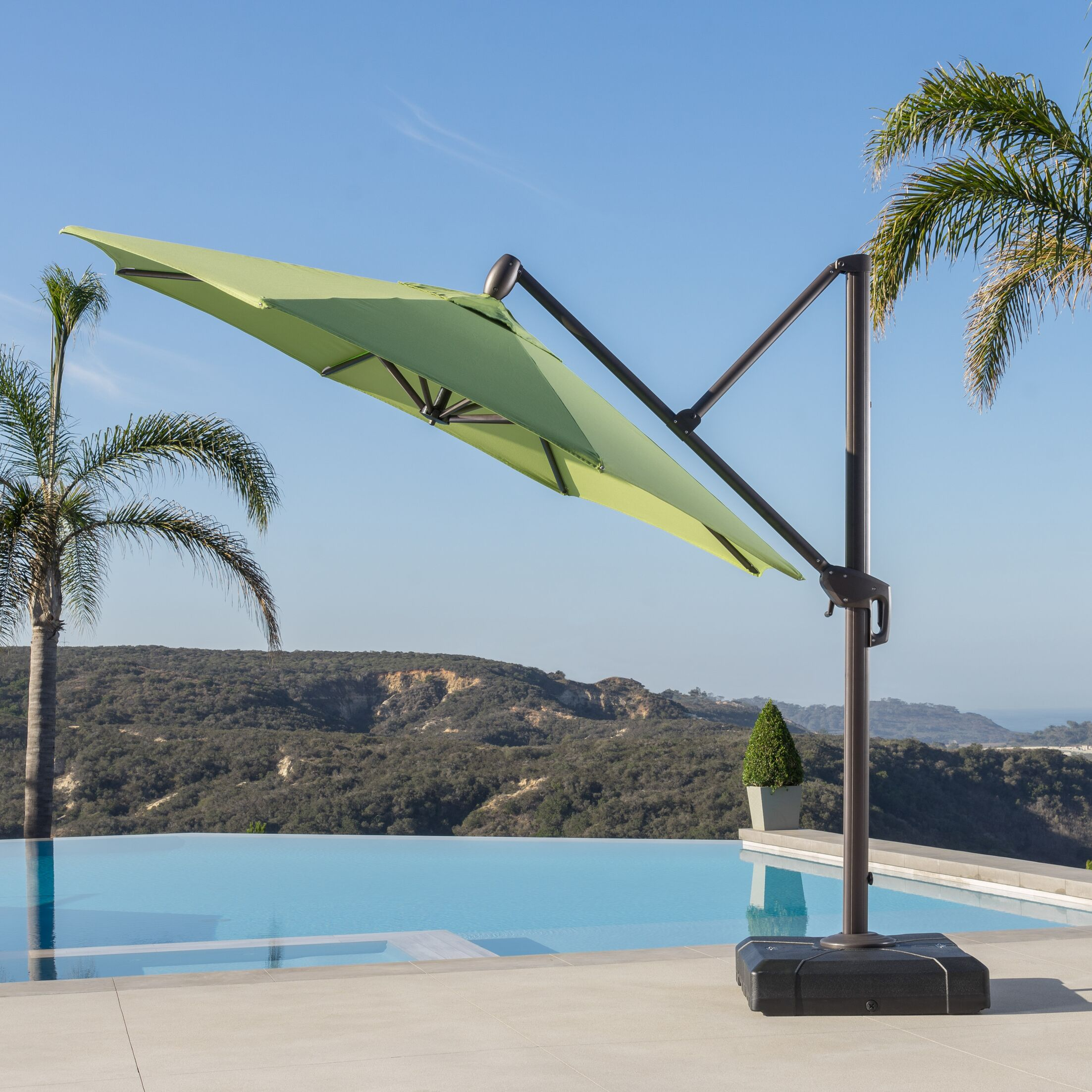 Griggsville 10' Cantilever Umbrella Fabric: Ginkgo Green