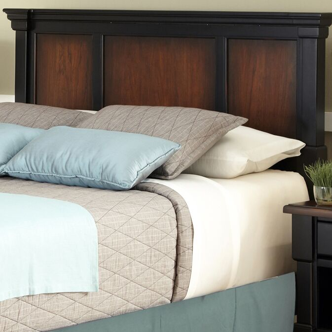 Cargile Panel Headboard and Nightstand Size: King / California King, Finish: Rustic Cherry / Black