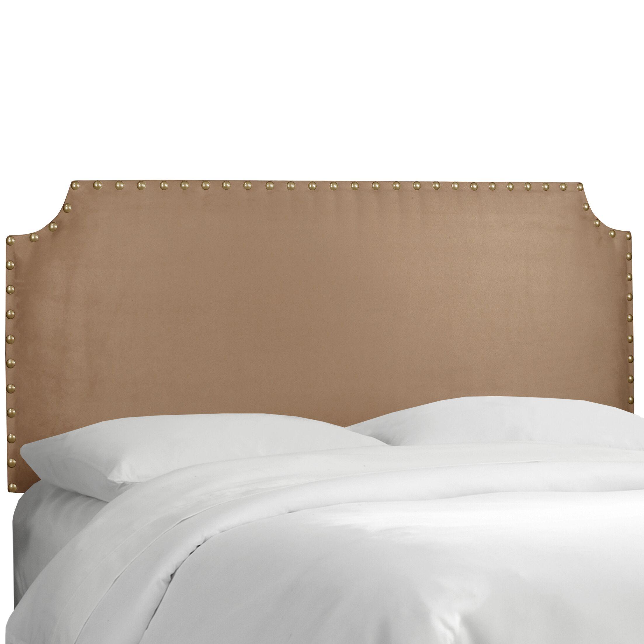 Adelia Upholstered Panel Headboard Size: Twin, Upholstery: Premier Saddle