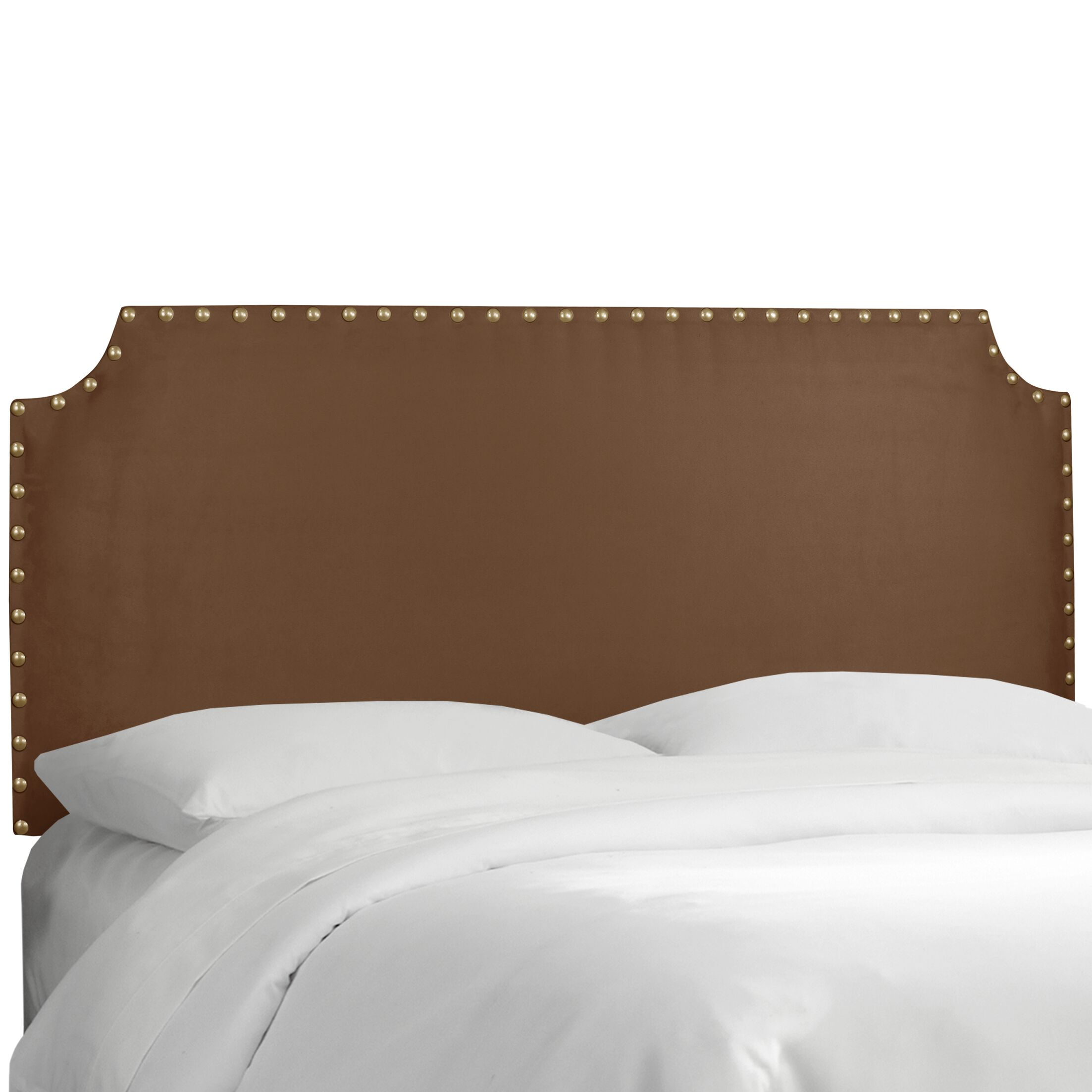 Adelia Upholstered Panel Headboard Size: Full, Upholstery: Premier Chocolate