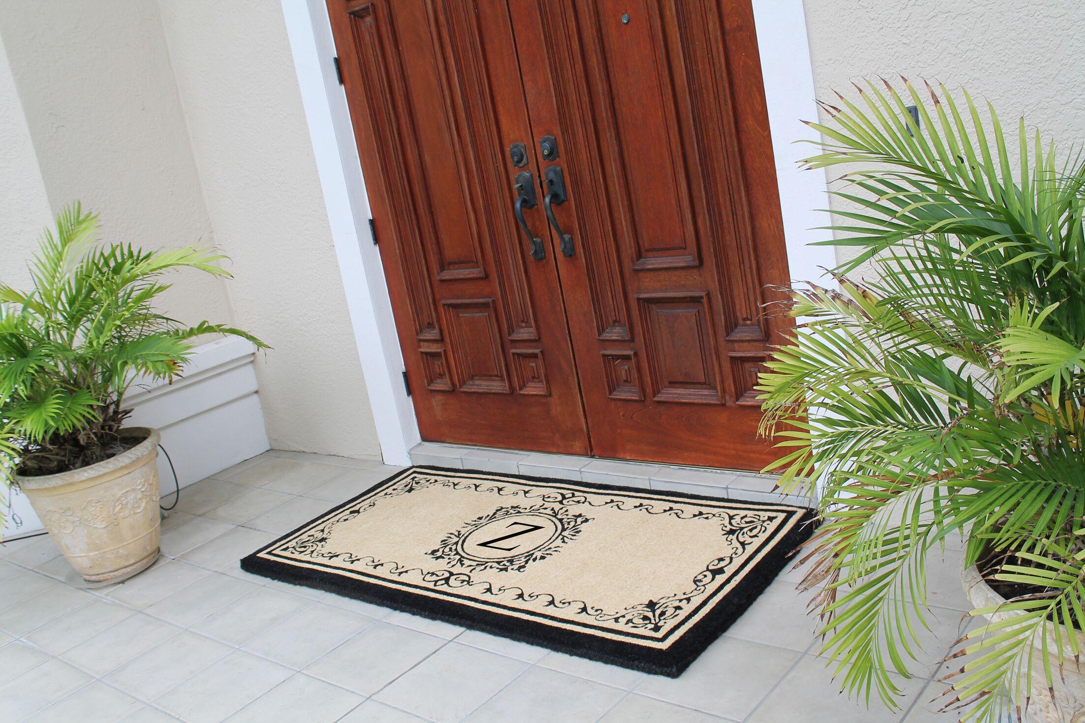 Hedvige Estate Anti Shred Monogrammed Double Doormat Letter: Z