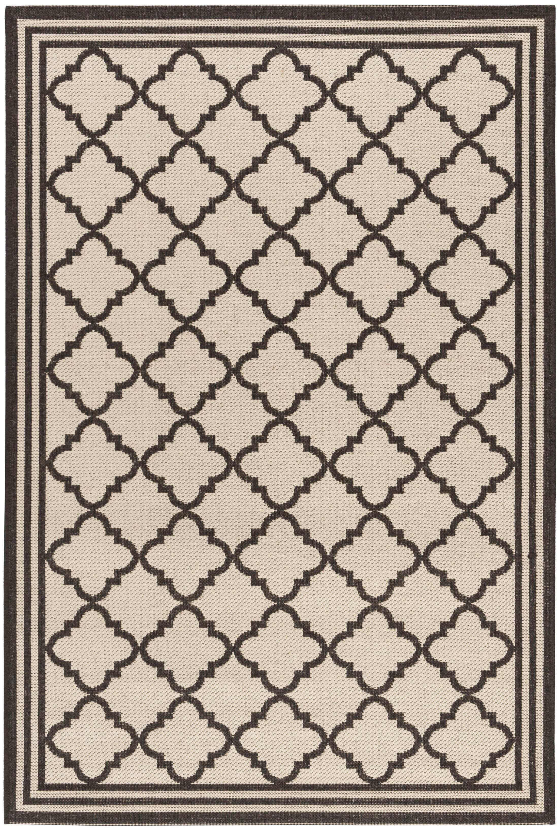 Sherell Creme/Brown Area Rug Rug Size: Rectangle 4' x 6'