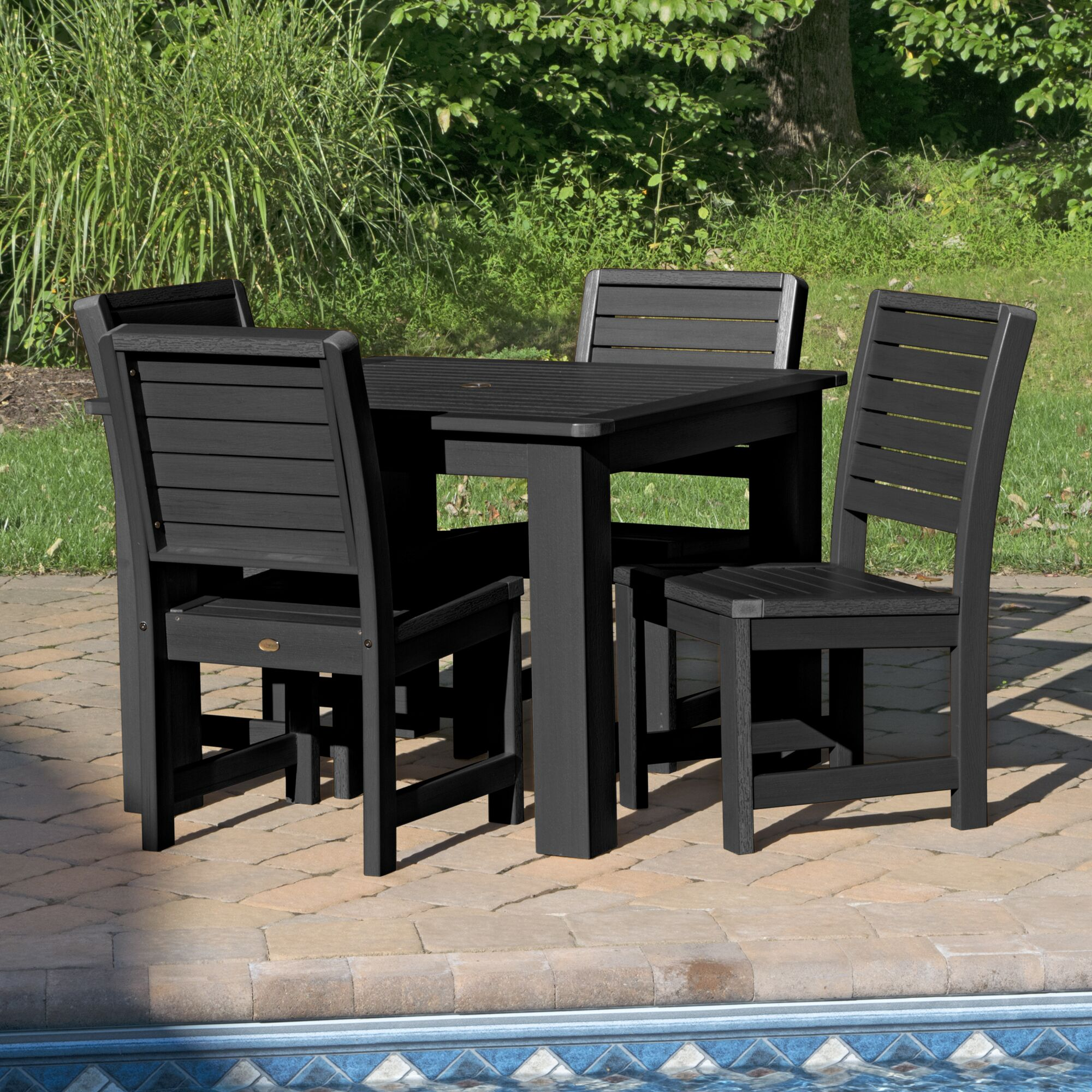 Berry 5 Piece Bar Height Dining Set Finish: Black