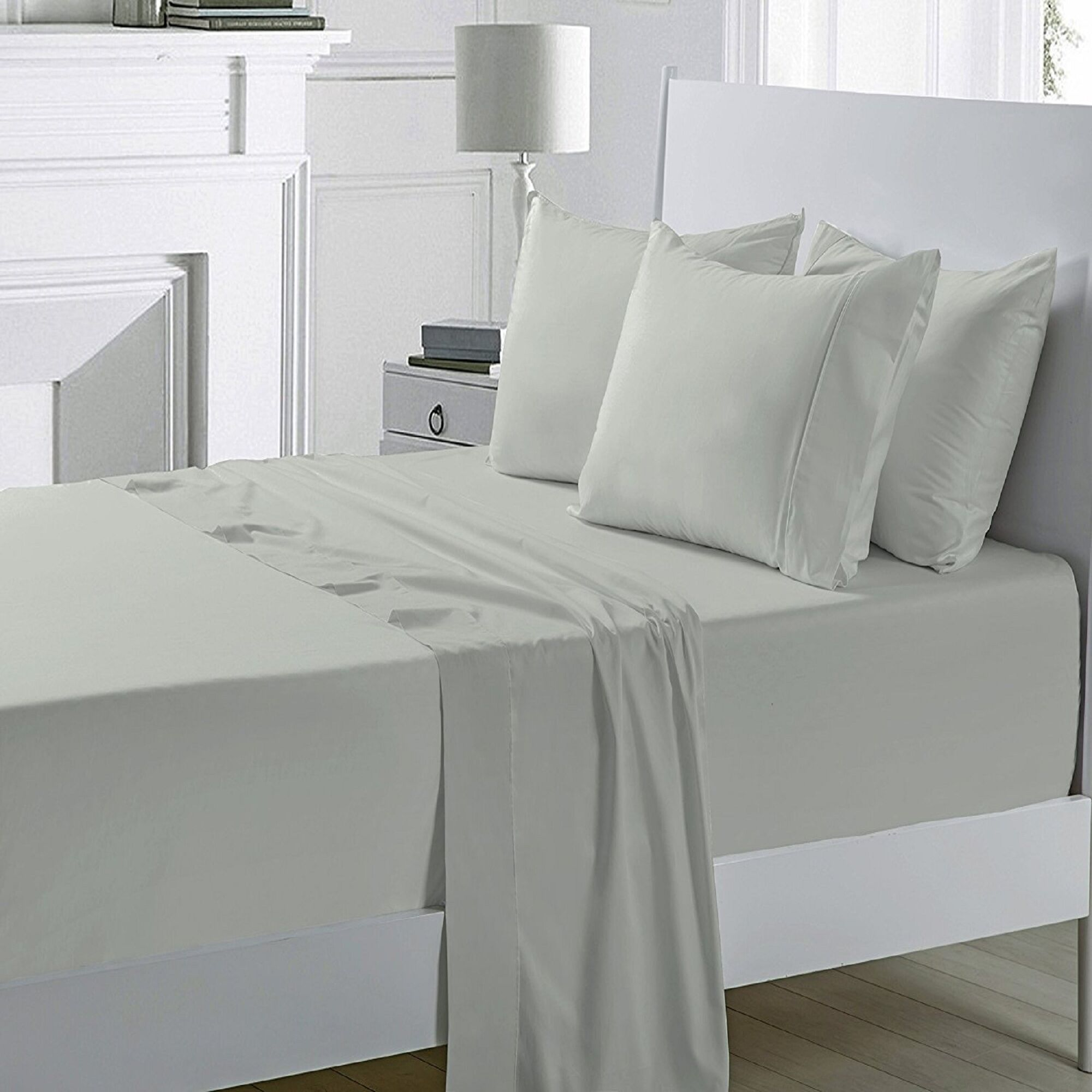 Miral 400 Thread Count 100% Cotton Sheet Set Size: Full, Color: Sage