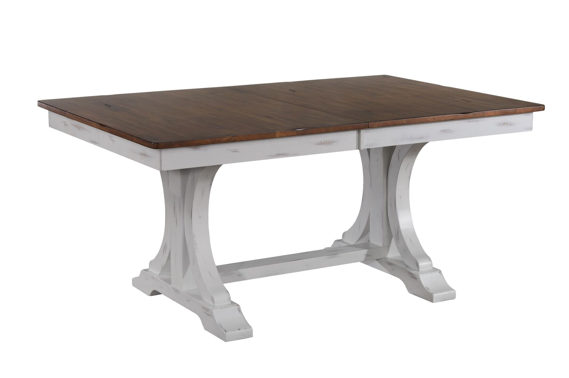 Ramires Extendable Solid Wood Dining Table Finish: Distressed cocoa brown/cotton white