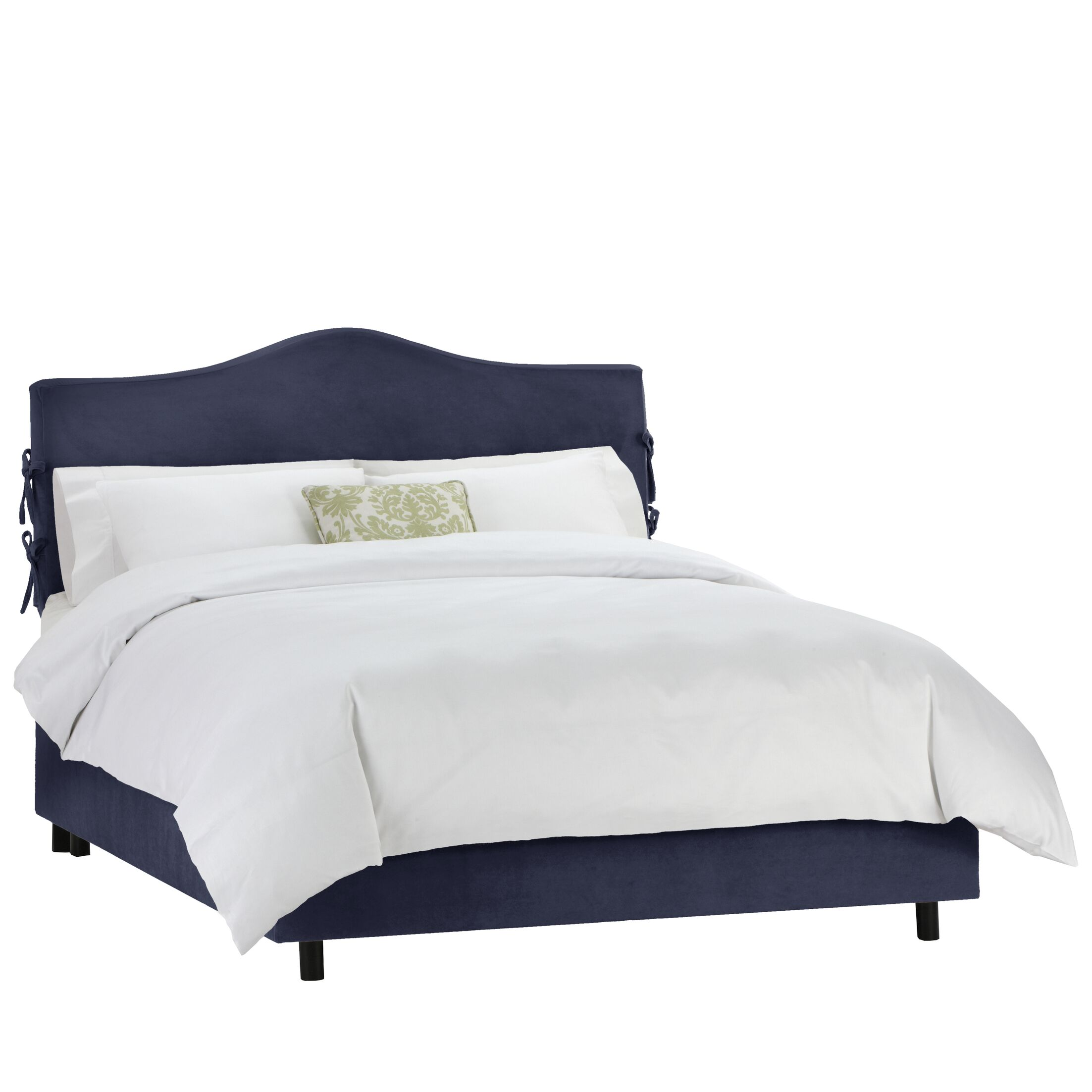 Walden Upholstered Panel Bed Color: Regal Navy, Size: Queen