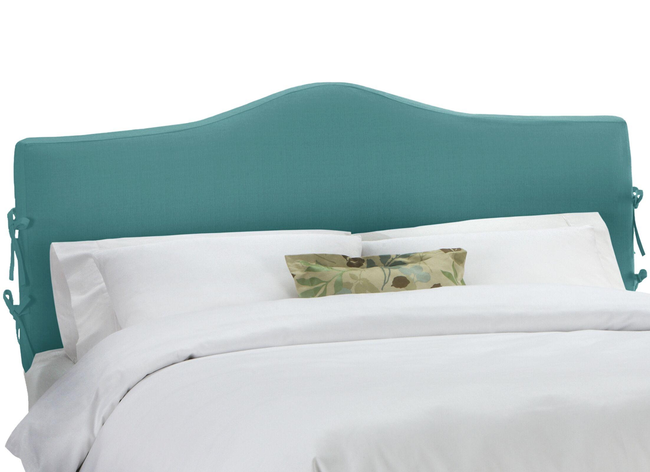 Upholstered Panel Headboard Size: King, Upholstery: Linen Laguna