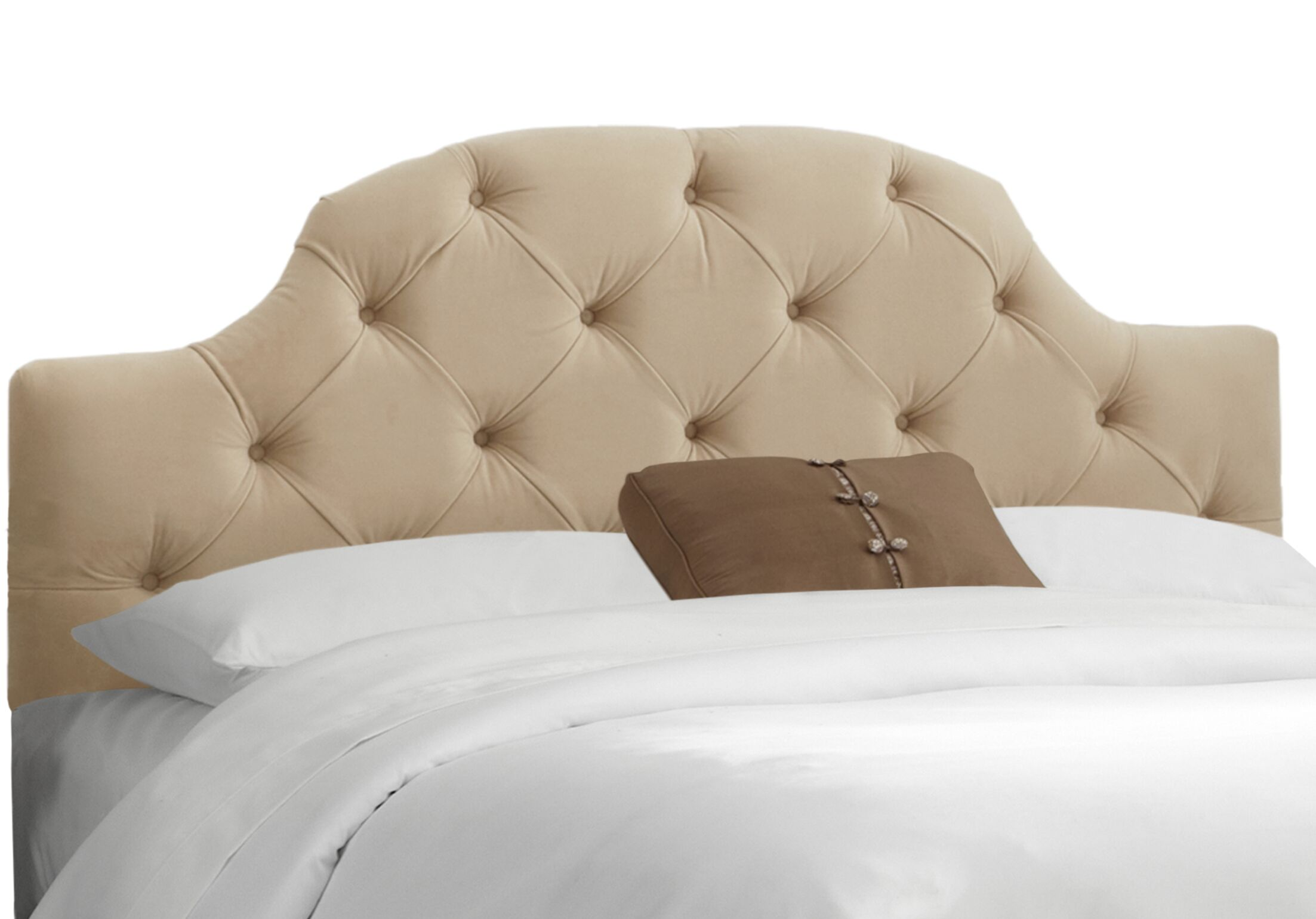 Doyon Tufted Upholstered Panel Headboard Upholstery: Premier Oatmeal, Size: California King