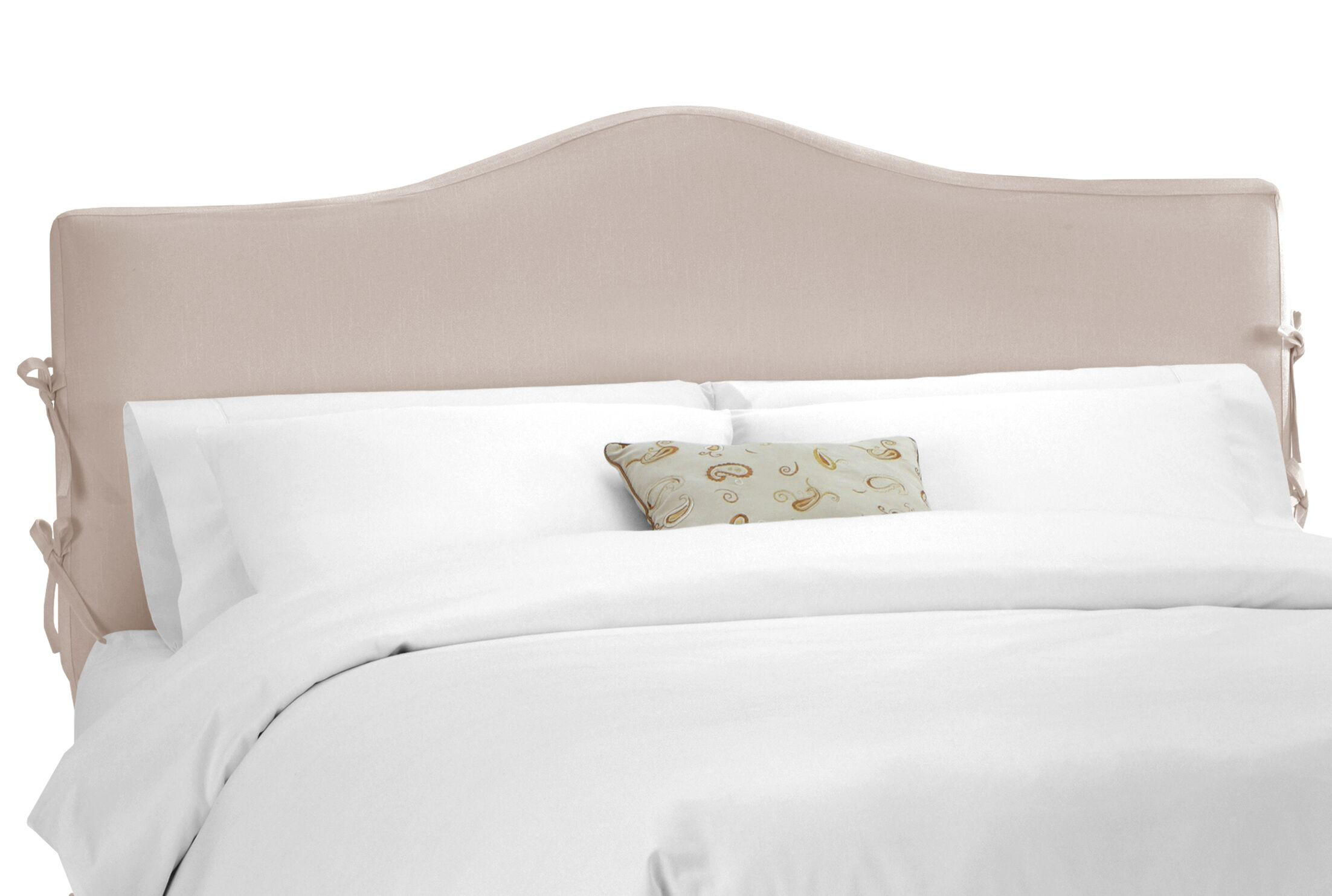 Crimmins Upholstered Panel Headboard Size: Twin, Upholstery: Shantung Dove