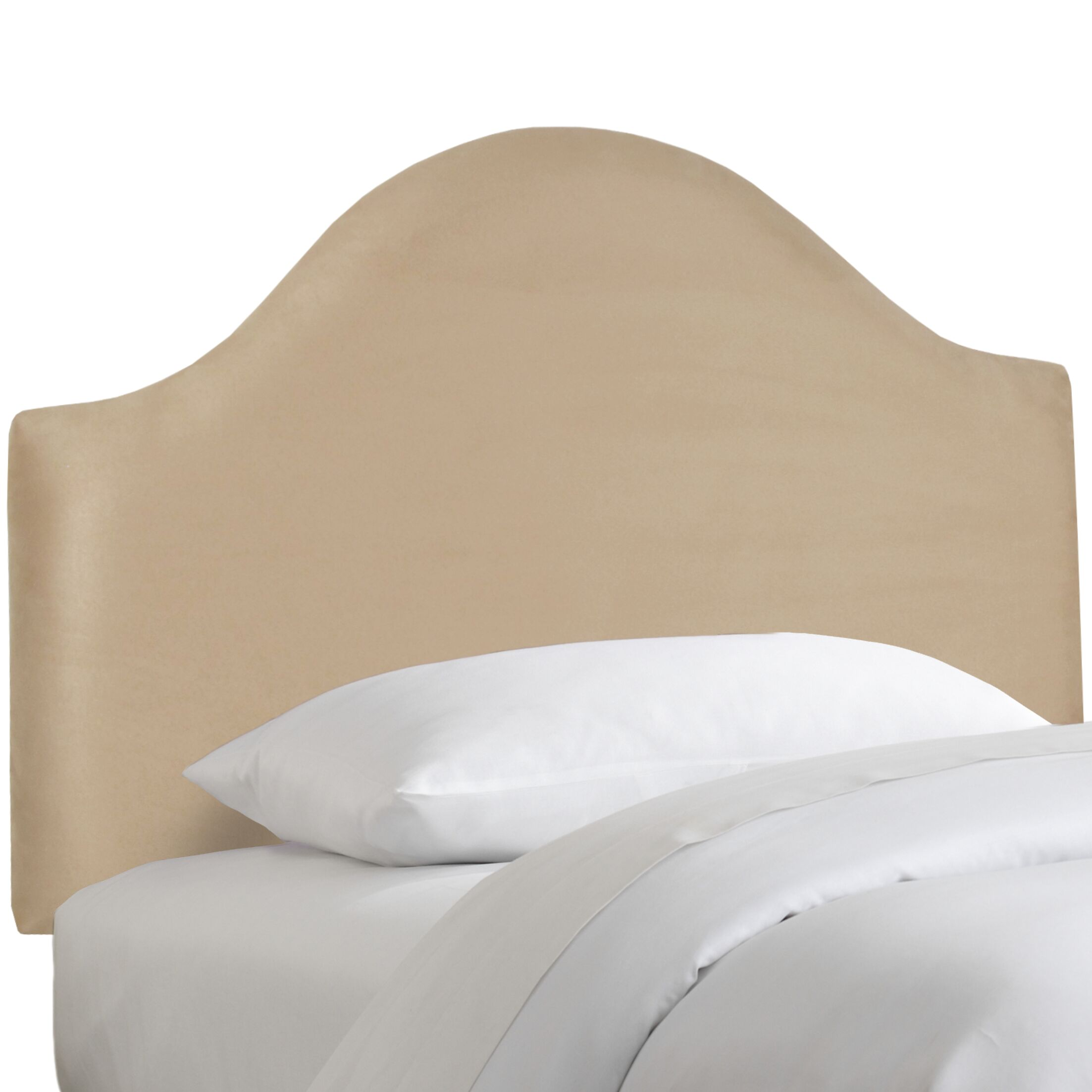 Premier Upholstered Panel Headboard Size: Twin, Color: Oatmeal
