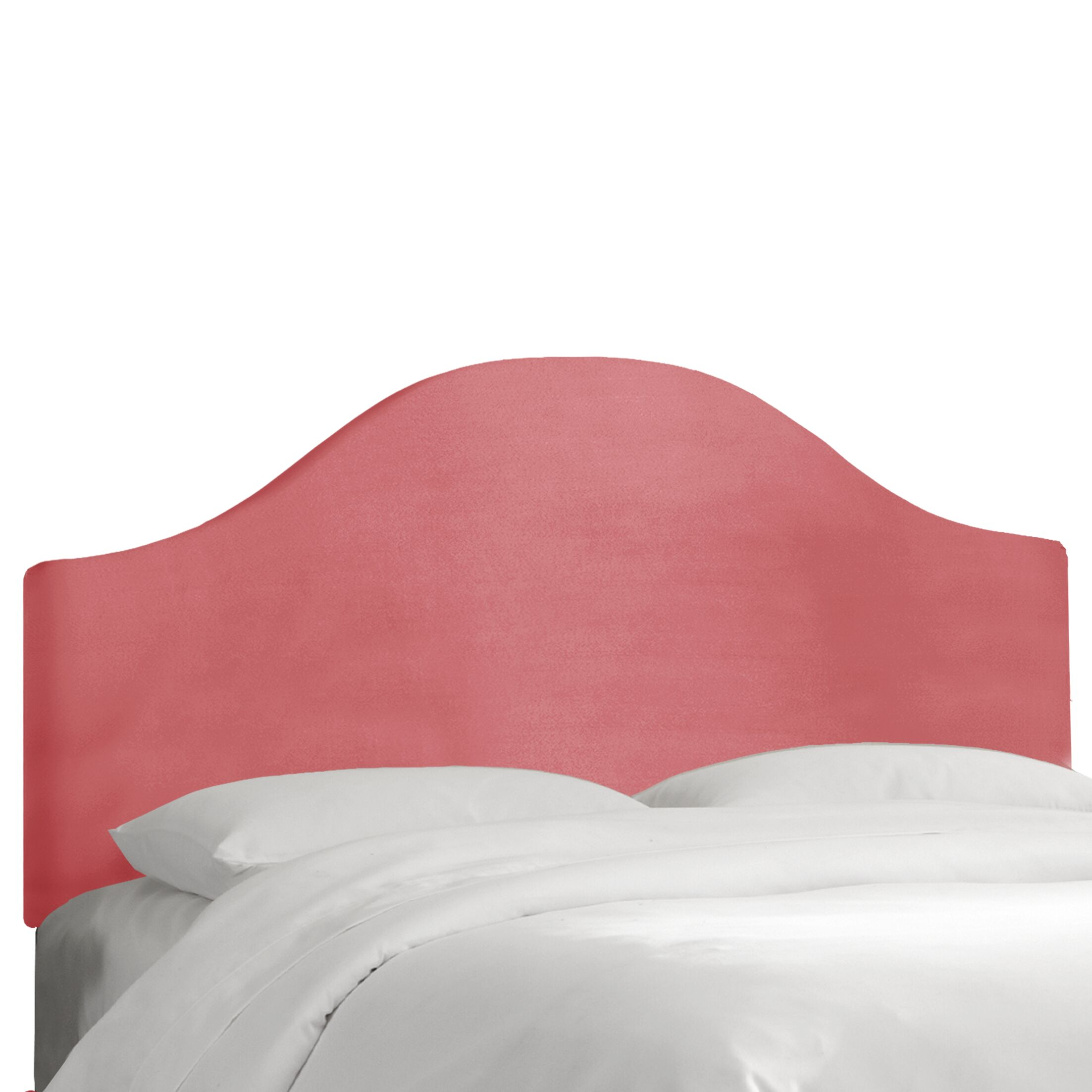 Regal Upholstered Panel Headboard Color: Dusty Rose, Size: Queen