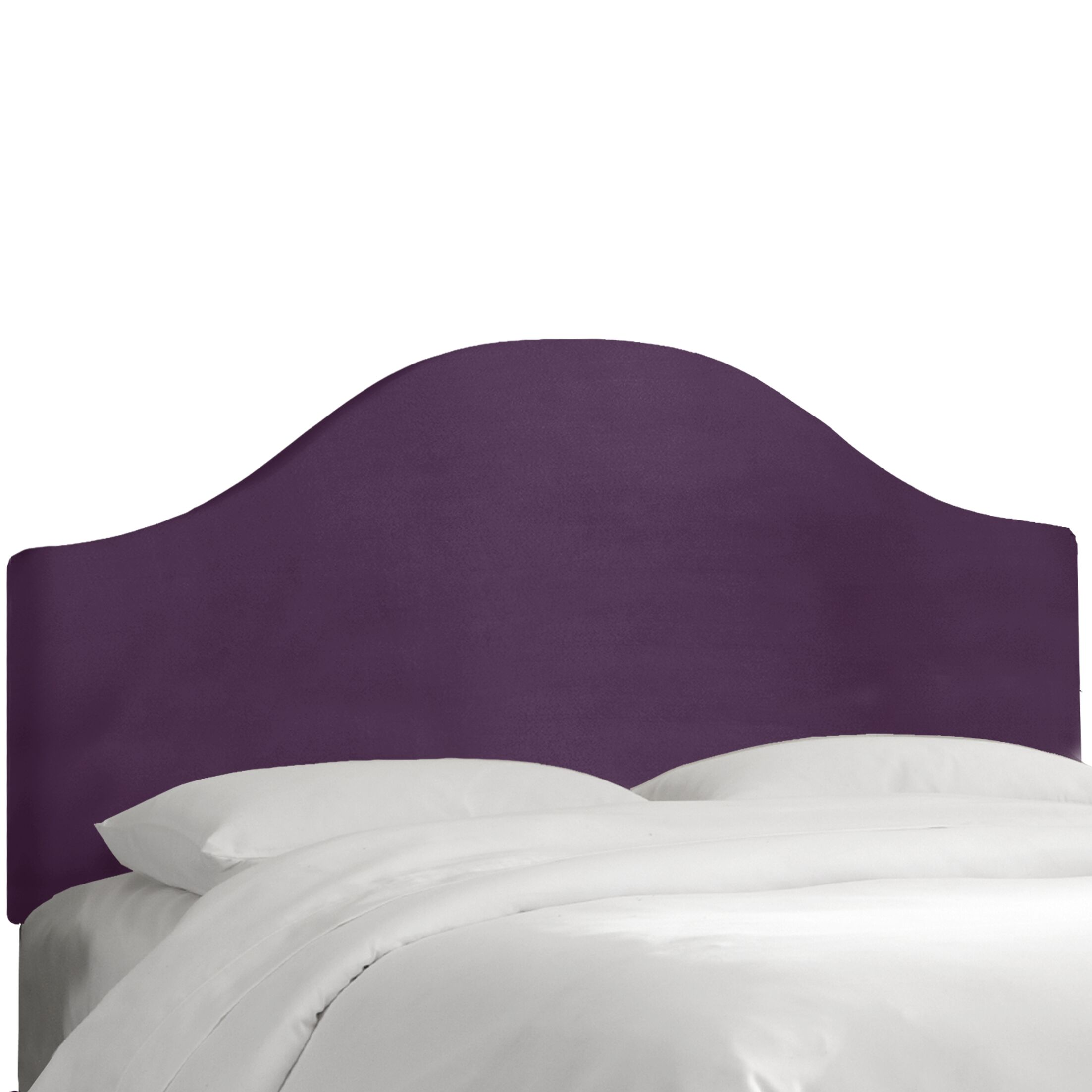 Upholstered Panel Headboard Color: Aubergine, Size: King
