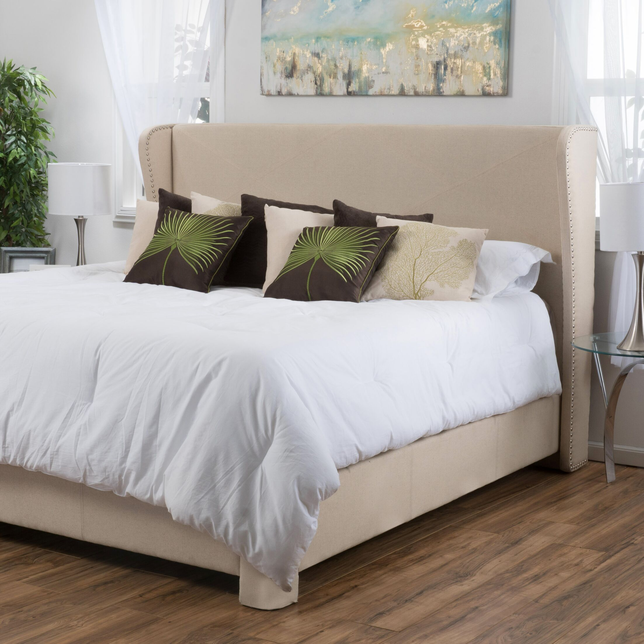 Bellville King Upholstered Panel Bed Size: King