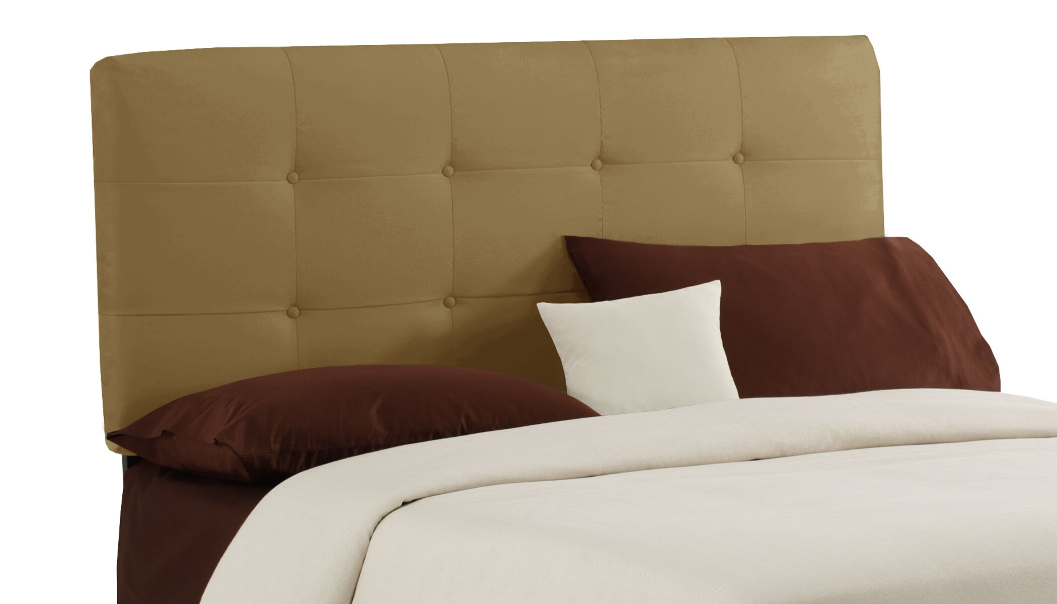 Lenora Button Upholstered Panel Headboard Size: Queen, Color: Honey