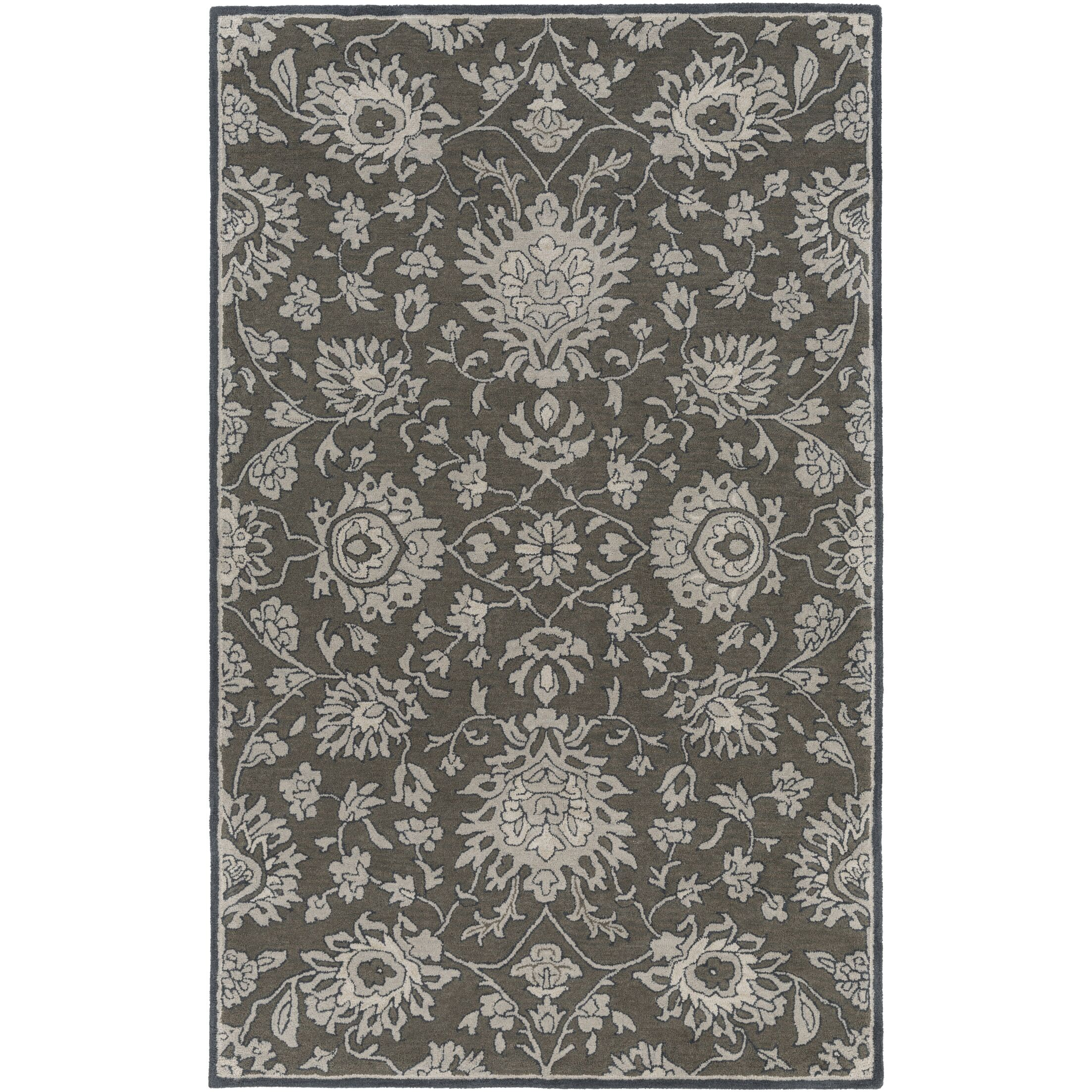 Langport Forest & Light Gray Area Rug Rug Size: Rectangle 9' x 13'