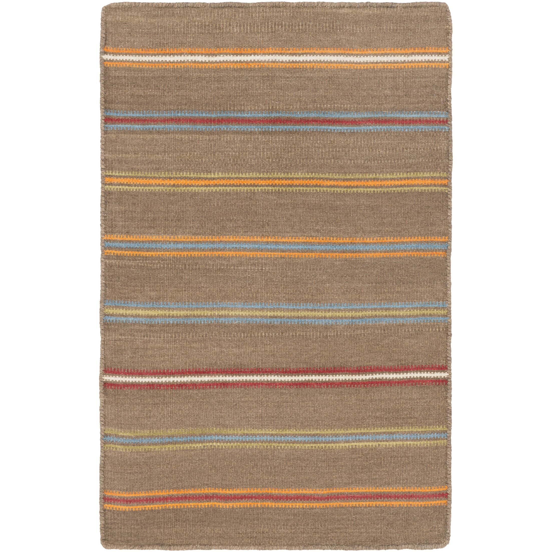Nashville Hand-WovenBrown Area Rug Rug Size: Rectangle 4' x 6'