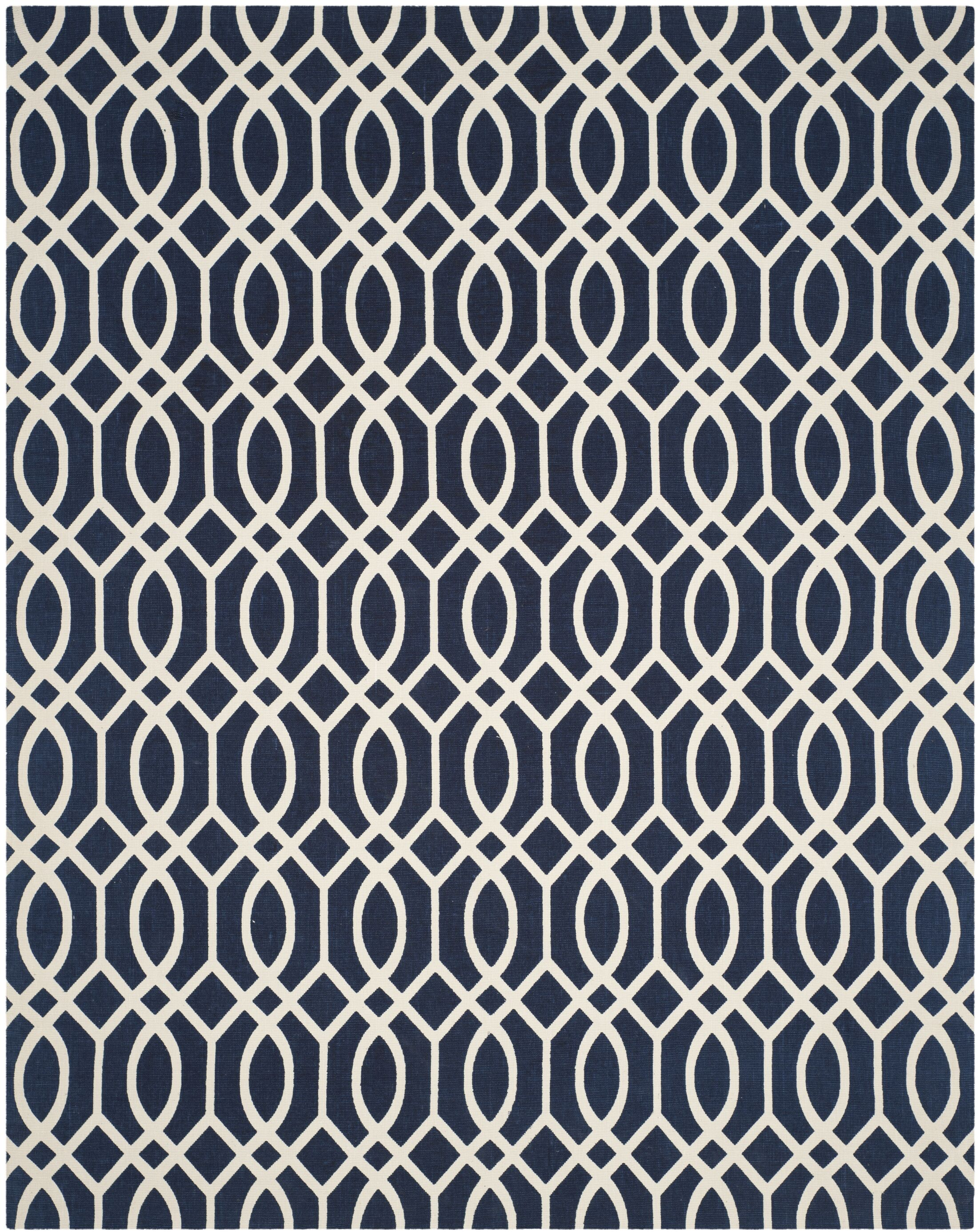 Quentin Road Navy/Ivory Area Rug Rug Size: Rectangle 8' x 10'