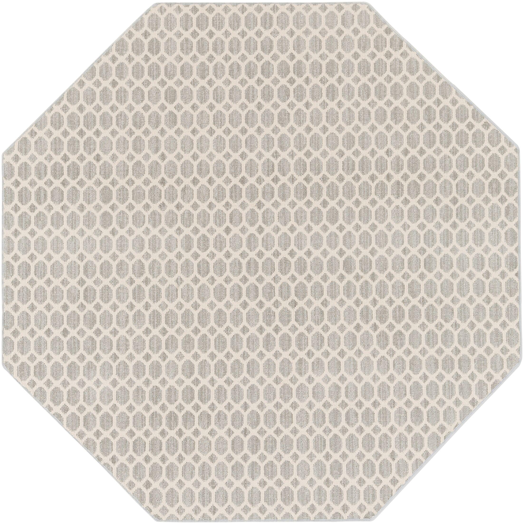 Casper Gray Indoor/Outdoor Area Rug Rug Size: Octagon 6'