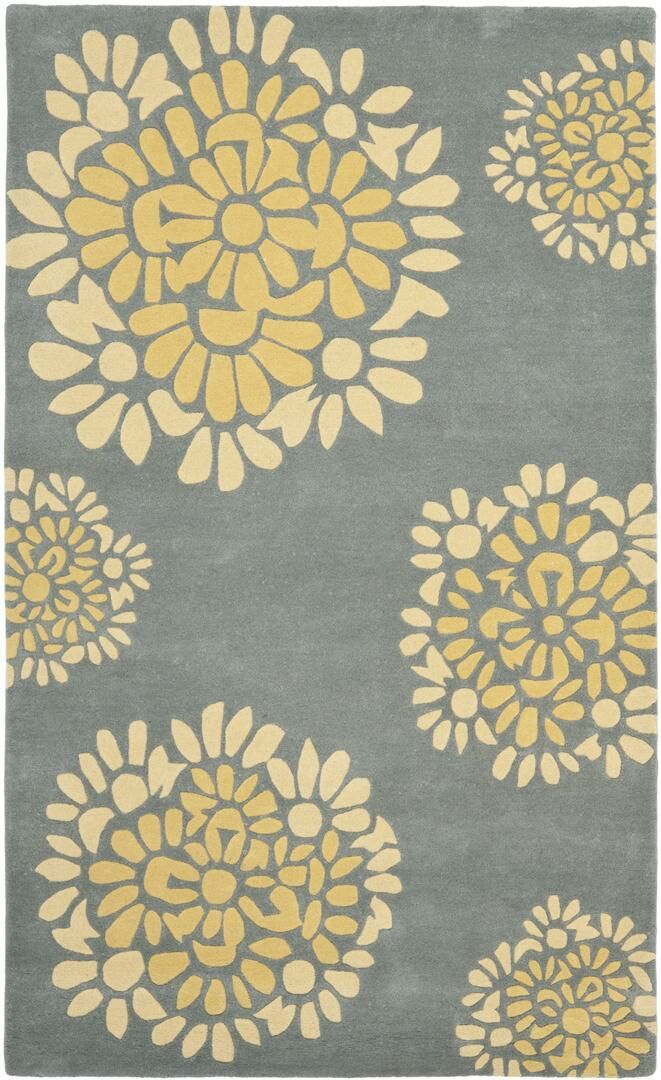 Martha Stewart Hand-Tufted Cement Area Rug Rug Size: Runner 2'3