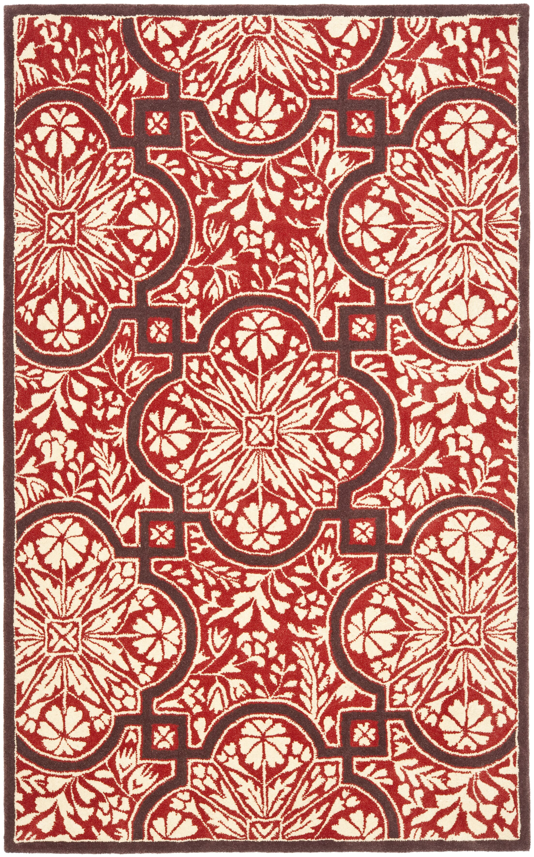 French Hand-Woven Vermillon Area Rug Rug Size: Rectangle 8' x 10'