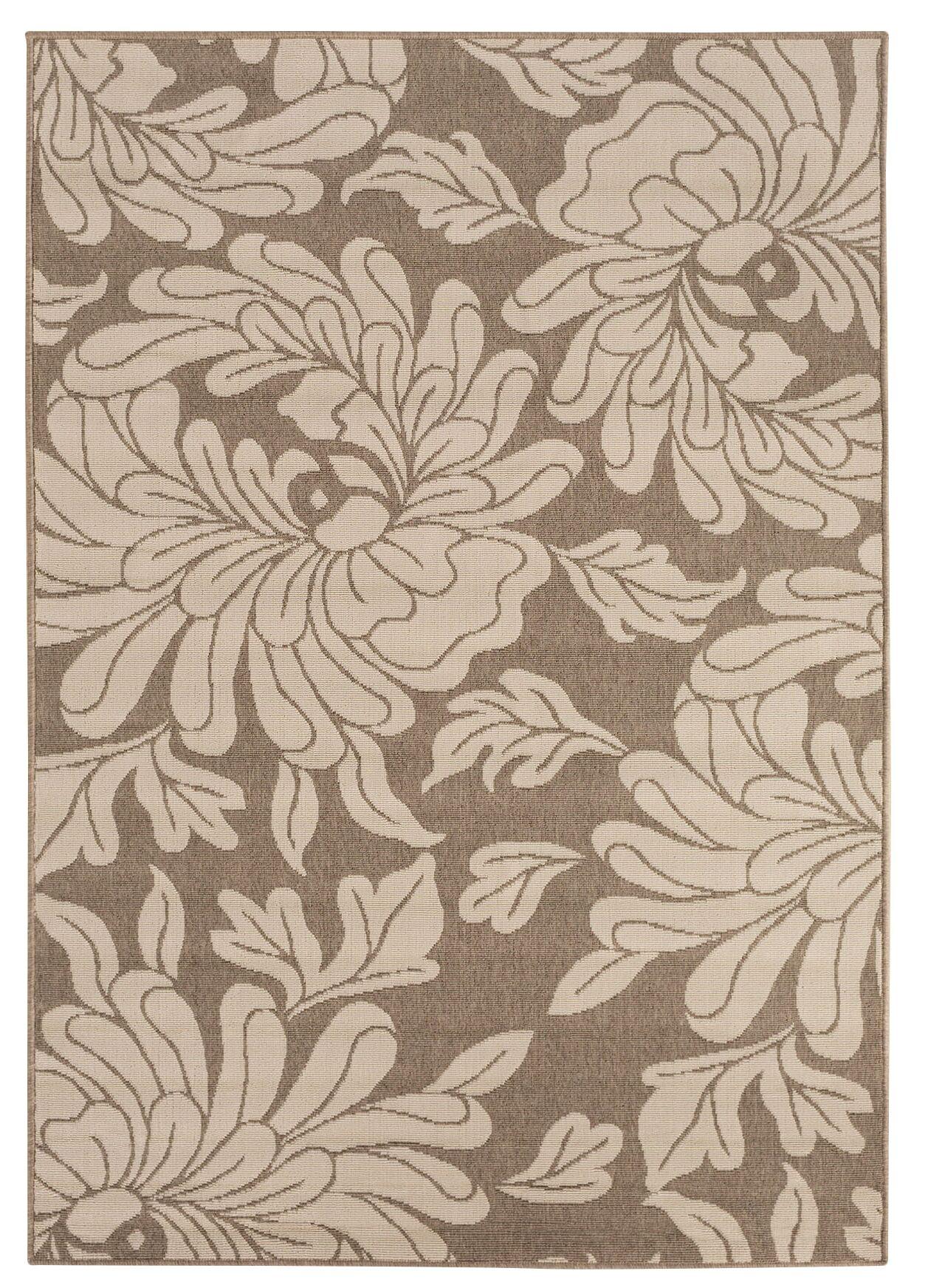 Nash Camel/Cream Indoor/Outdoor Floral Area Rug Rug Size: Rectangle 8'9