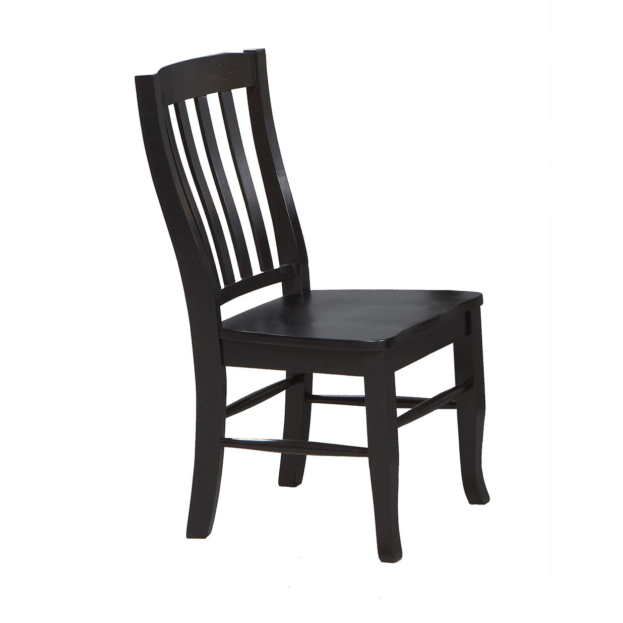 Calvert Solid Wood Dining Chair (Set of 2) Finish: Ebony
