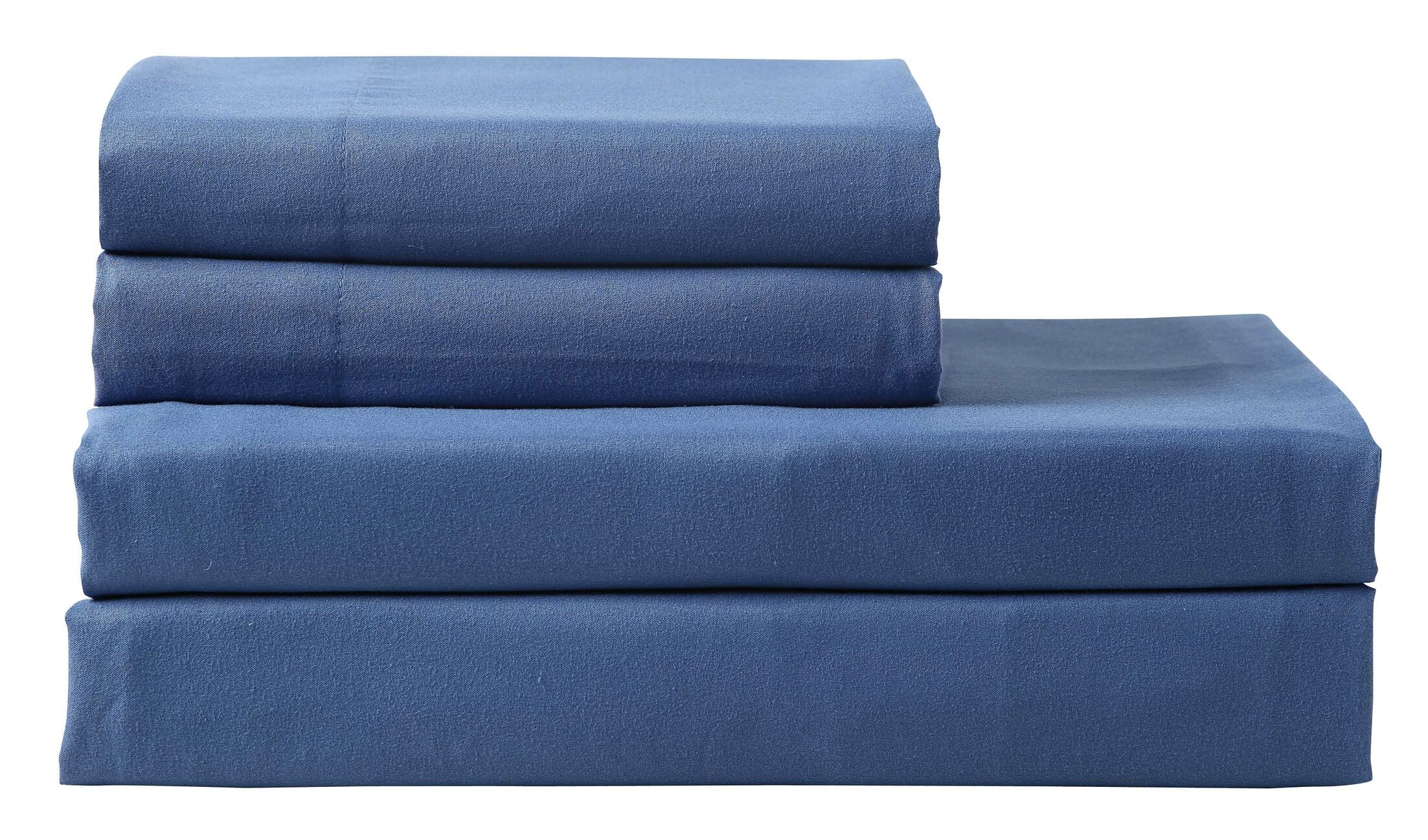 Columbard 300 Thread Count 100% Cotton Sheet Set Color: Navy, Size: King