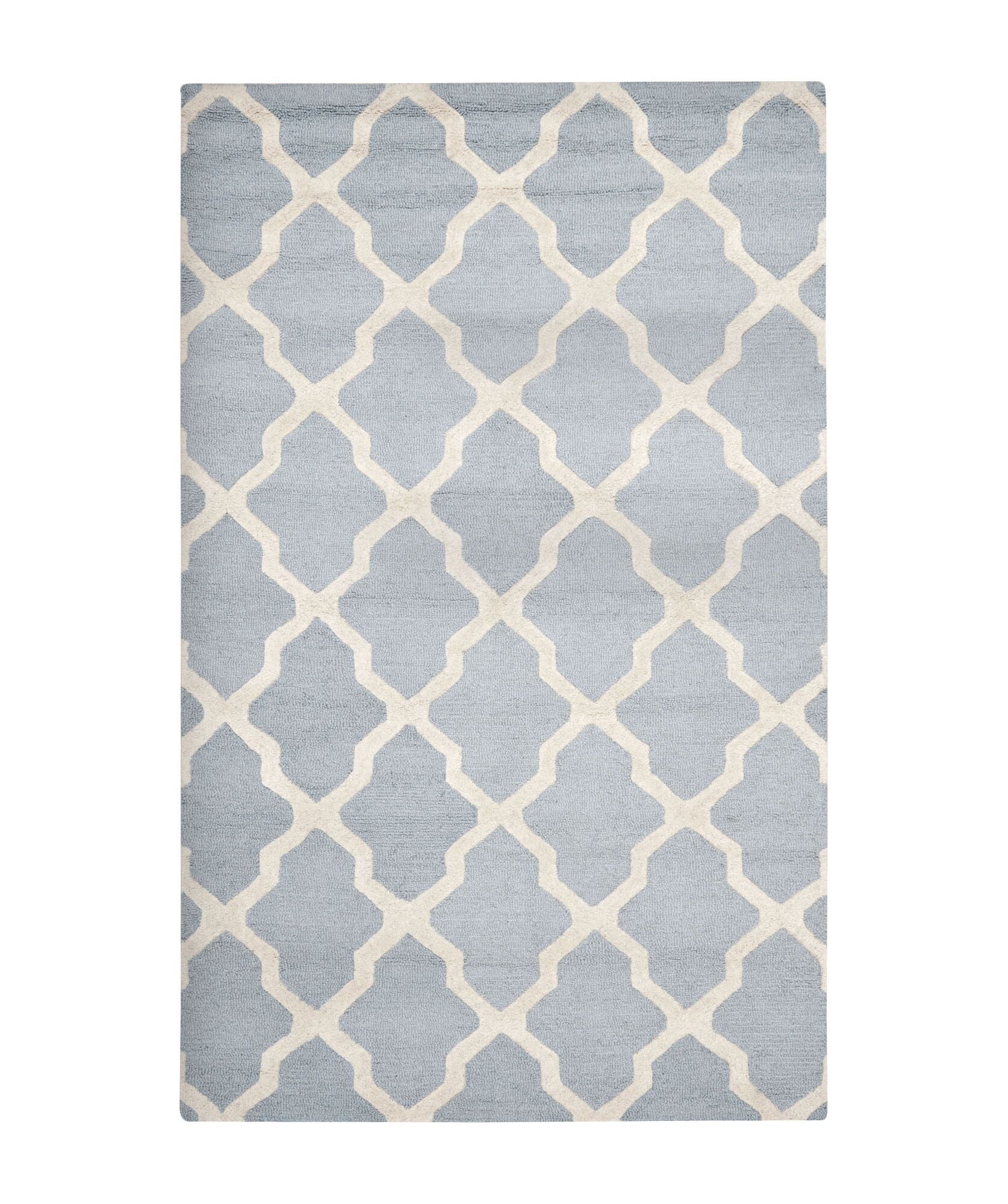 Sugar Pine Hand-Tufted Wool Blue/Ivory Area Rug Rug Size: Rectangle 4' x 6'