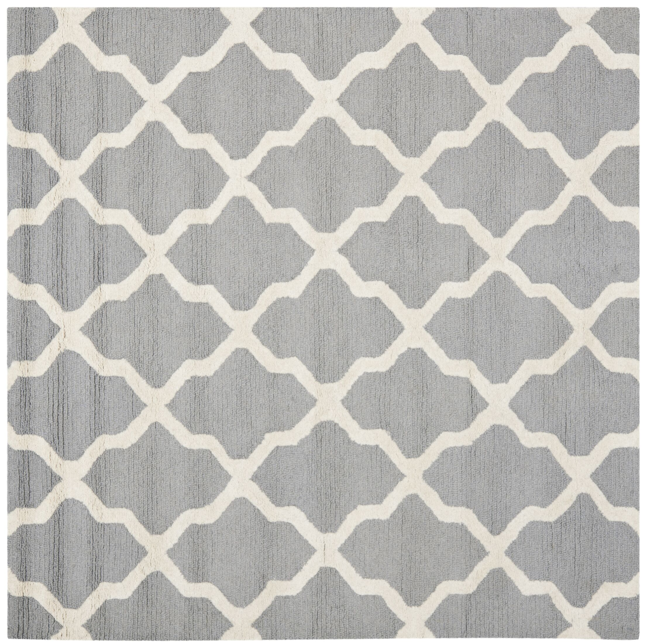 Sugar Pine Hand-Tufted Gray Area Rug Rug Size: Square 8' x 8'