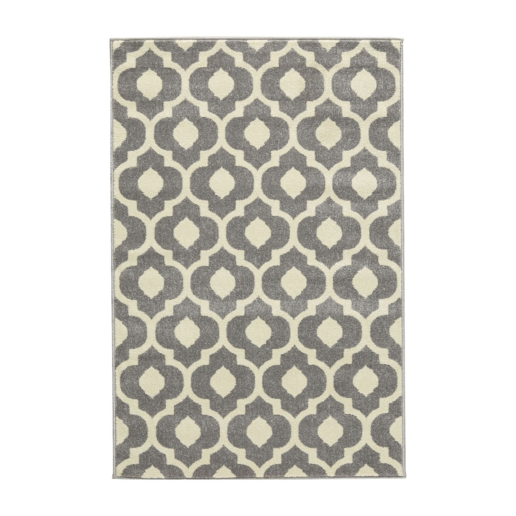 Oak Knoll Ivory/Light Grey Area Rug Rug Size: Runner 2'7