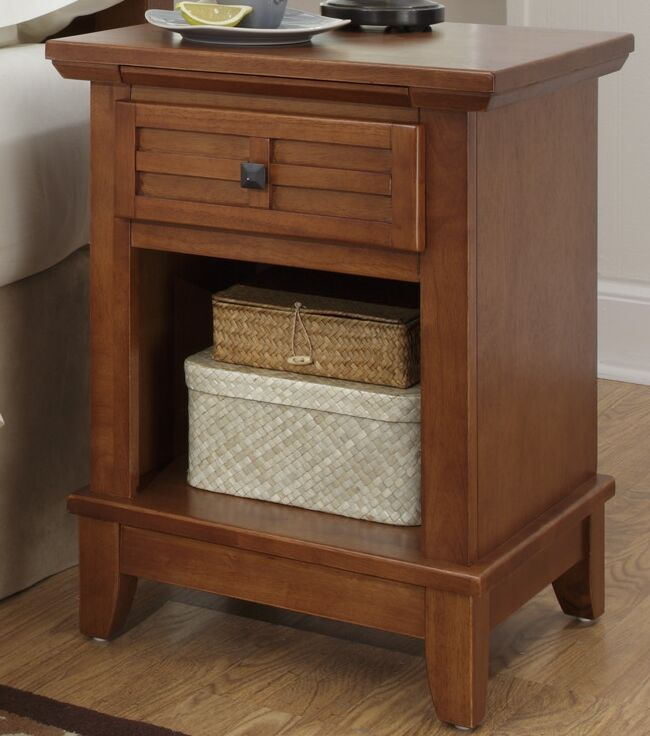 Ferryhill 1 Drawer Night Stand Color: Warm Cottage Oak