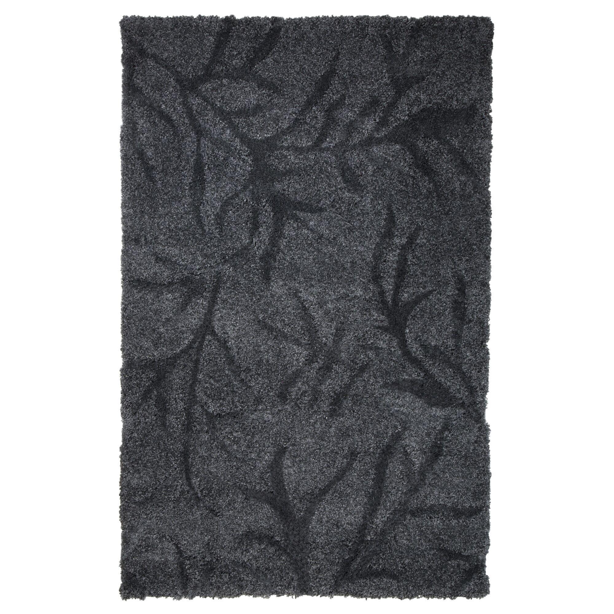 Northumberland Hand Woven Dark Grey Area Rug Rug Size: 5' x 7'7
