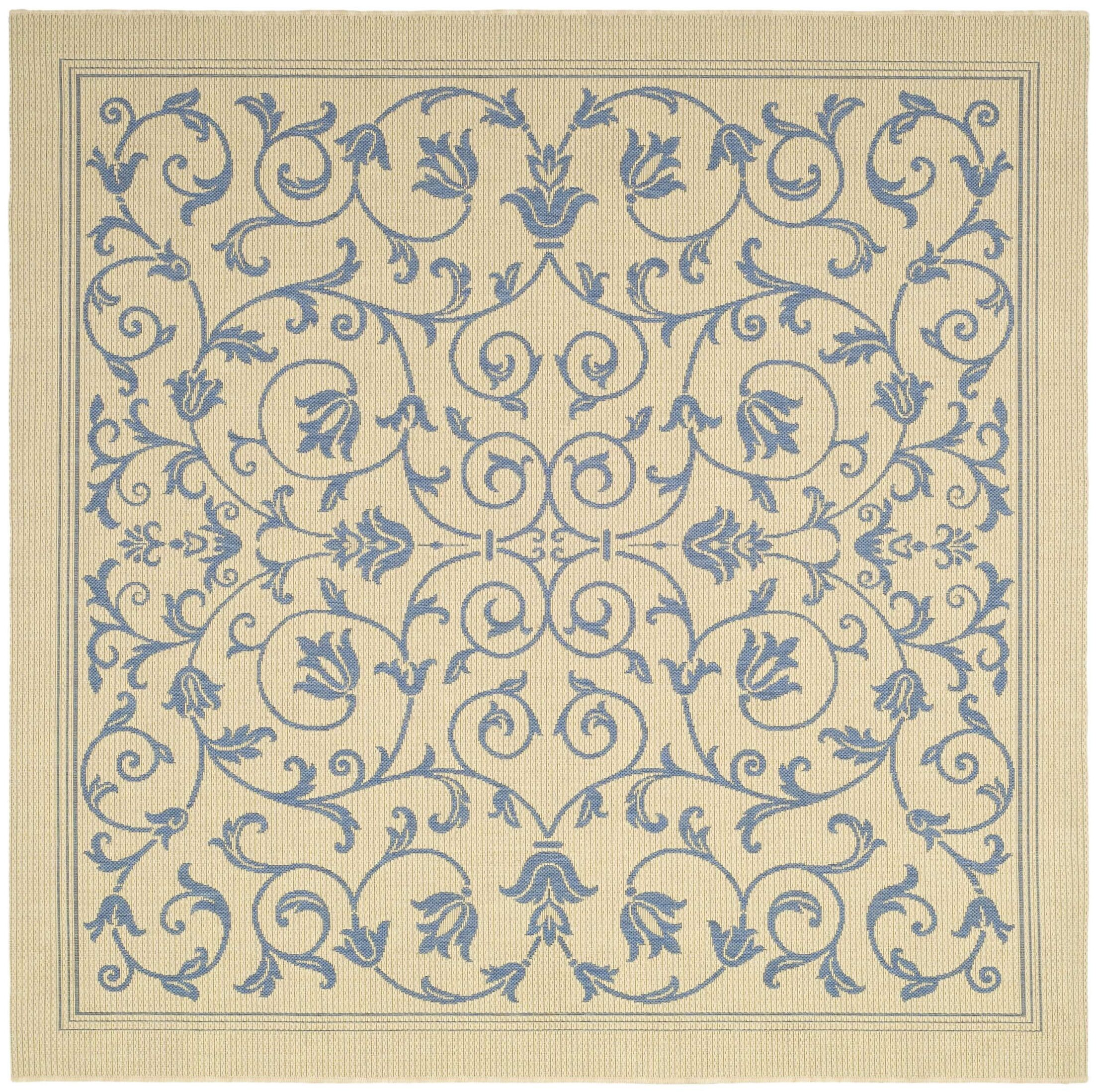 Bacall All Over Vine Indoor/Outdoor Area Rug Rug Size: Square 6'7