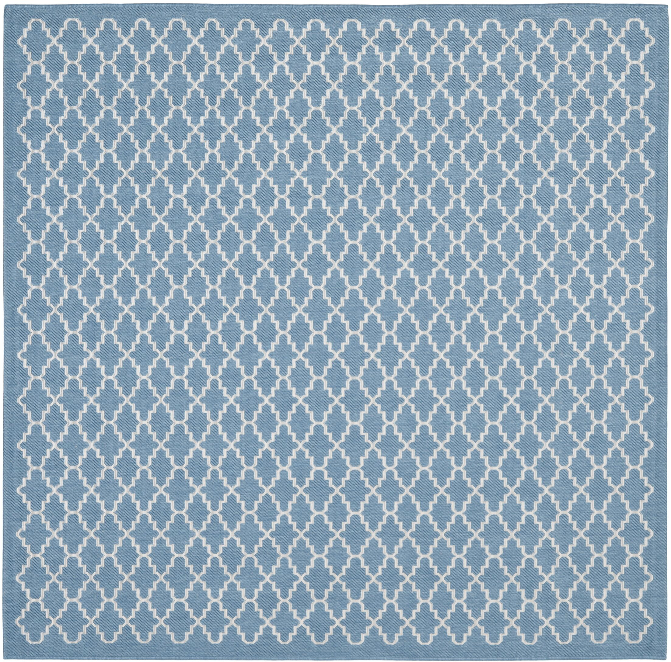Bacall Blue / Beige Indoor / Outdoor Area Rug Rug Size: Square 6'7