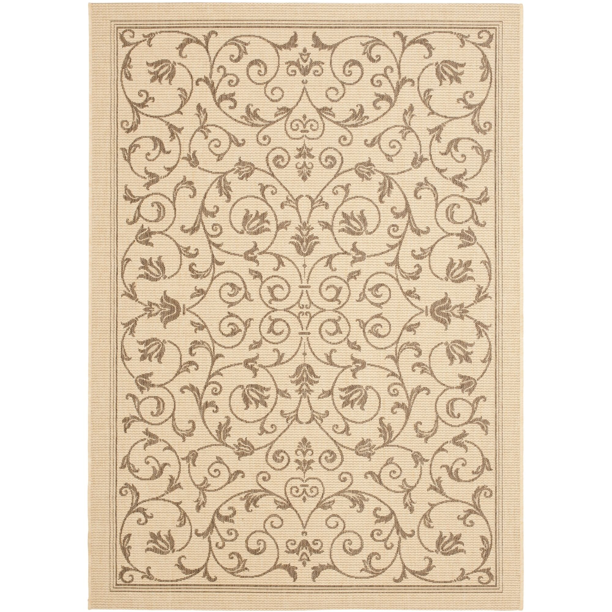 Bexton Beige/Brown Outdoor/Indoor Area Rug Rug Size: Rectangle 5'3