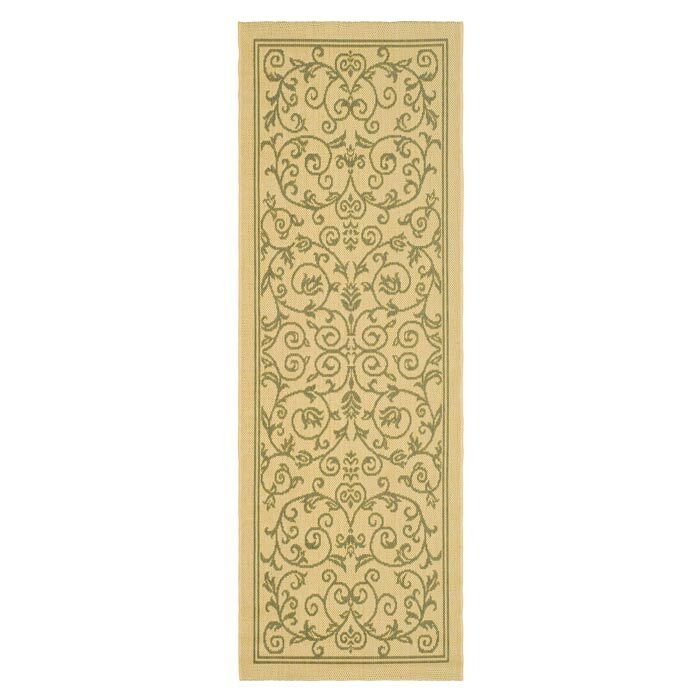 Bexton White Ivory / Green Outdoor Area Rug Rug Size: Rectangle 2'7