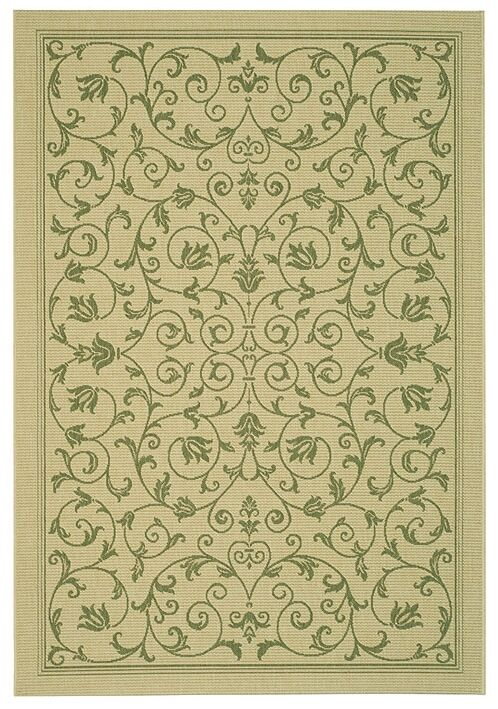Bexton White Ivory / Green Outdoor Area Rug Rug Size: Rectangle 2' x 3'7